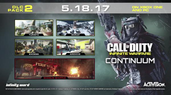 Druhé DLC pro Call of Duty: Infinite Warfare vyjde na PC a Xboxu One 18. května 143821