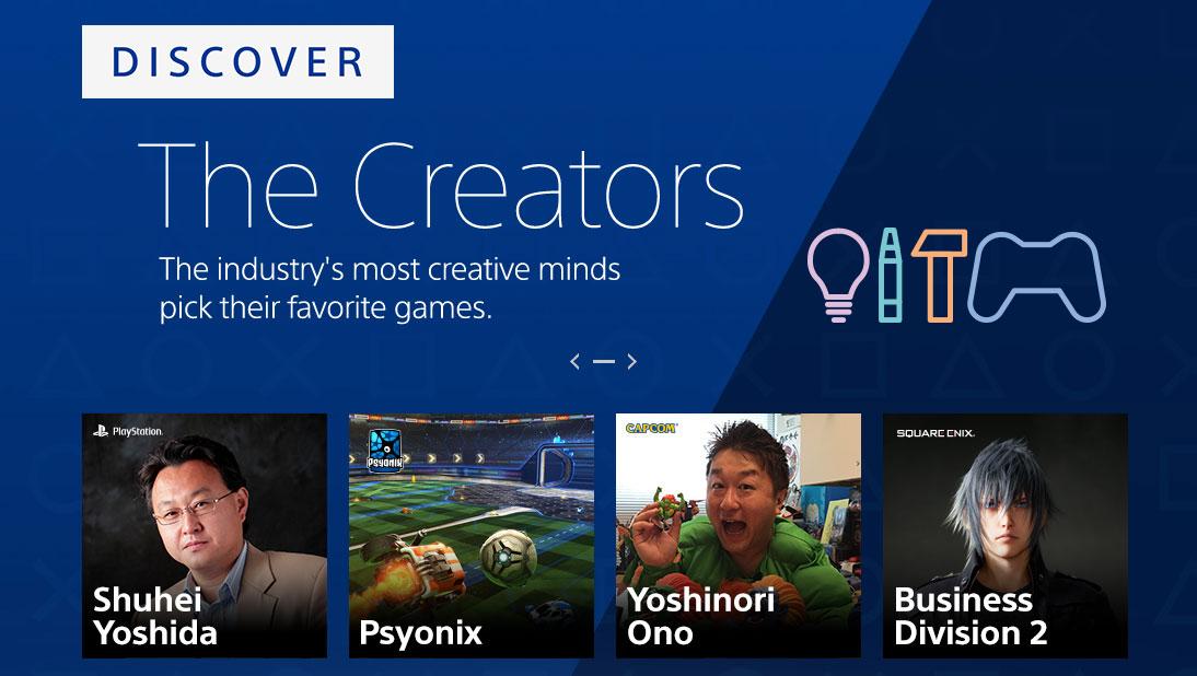 Známí vývojáři budou komunitě PlayStation doporučovat hry 144619