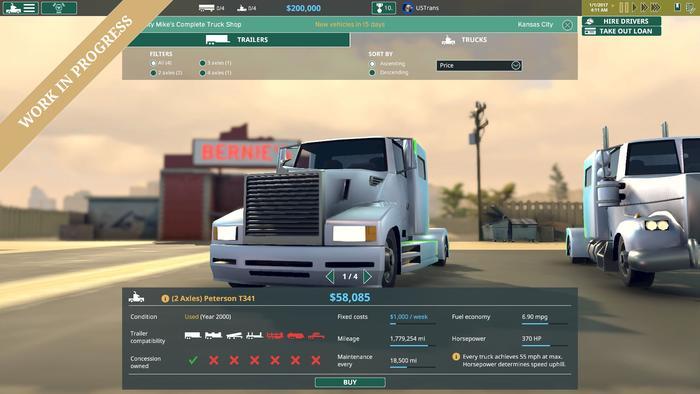 Ve hře TransRoad: USA budete provozovat vlastní přepravní firmu 145001