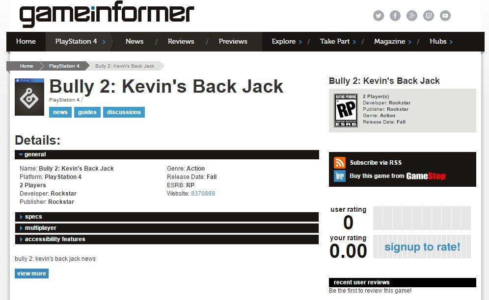 Rockstar má chystat Bully 2: Kevin's Back Jack 145455