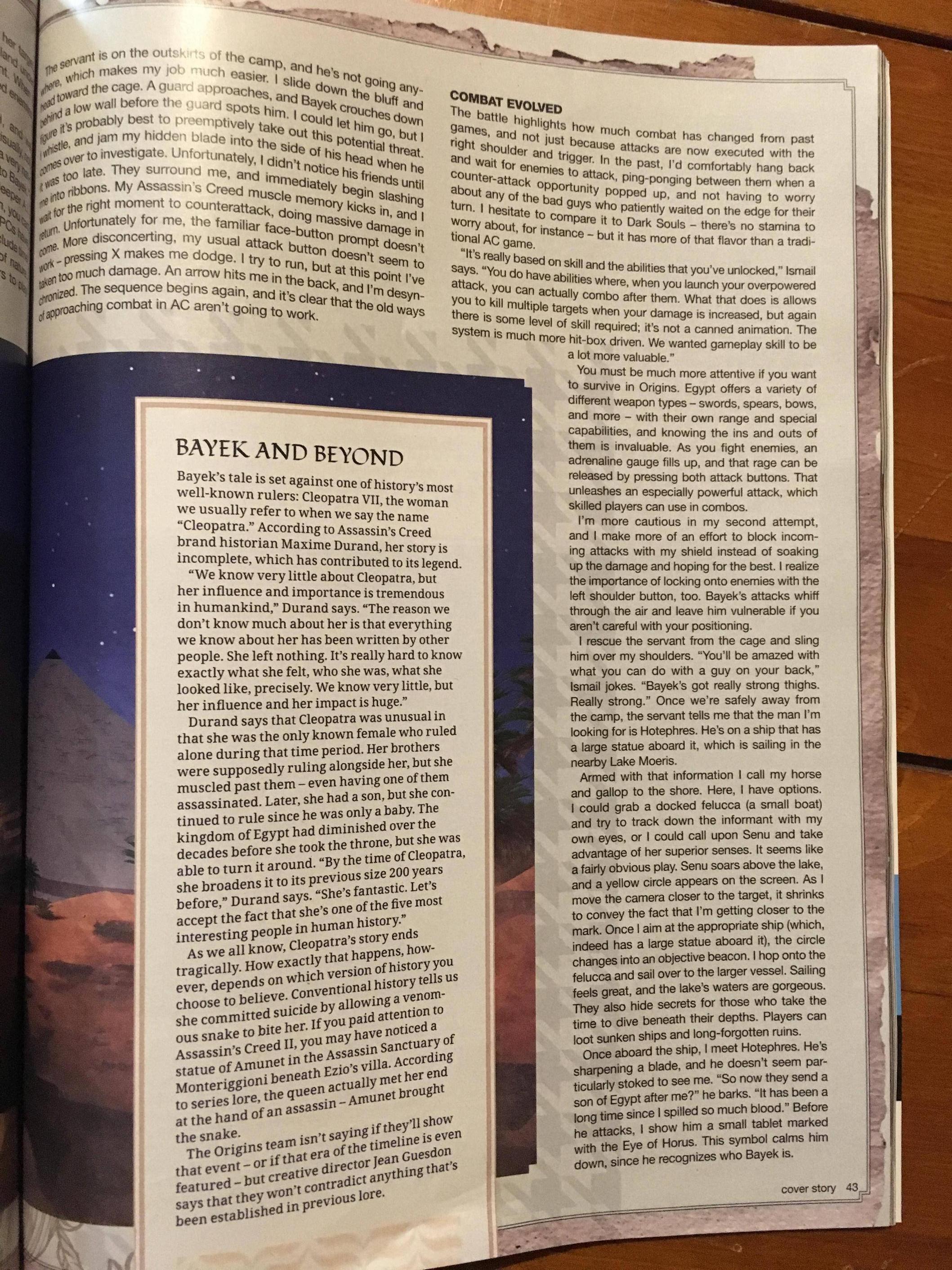 Tuna informací o Assassin's Creed: Origins z nového čísla Game Informeru 145587