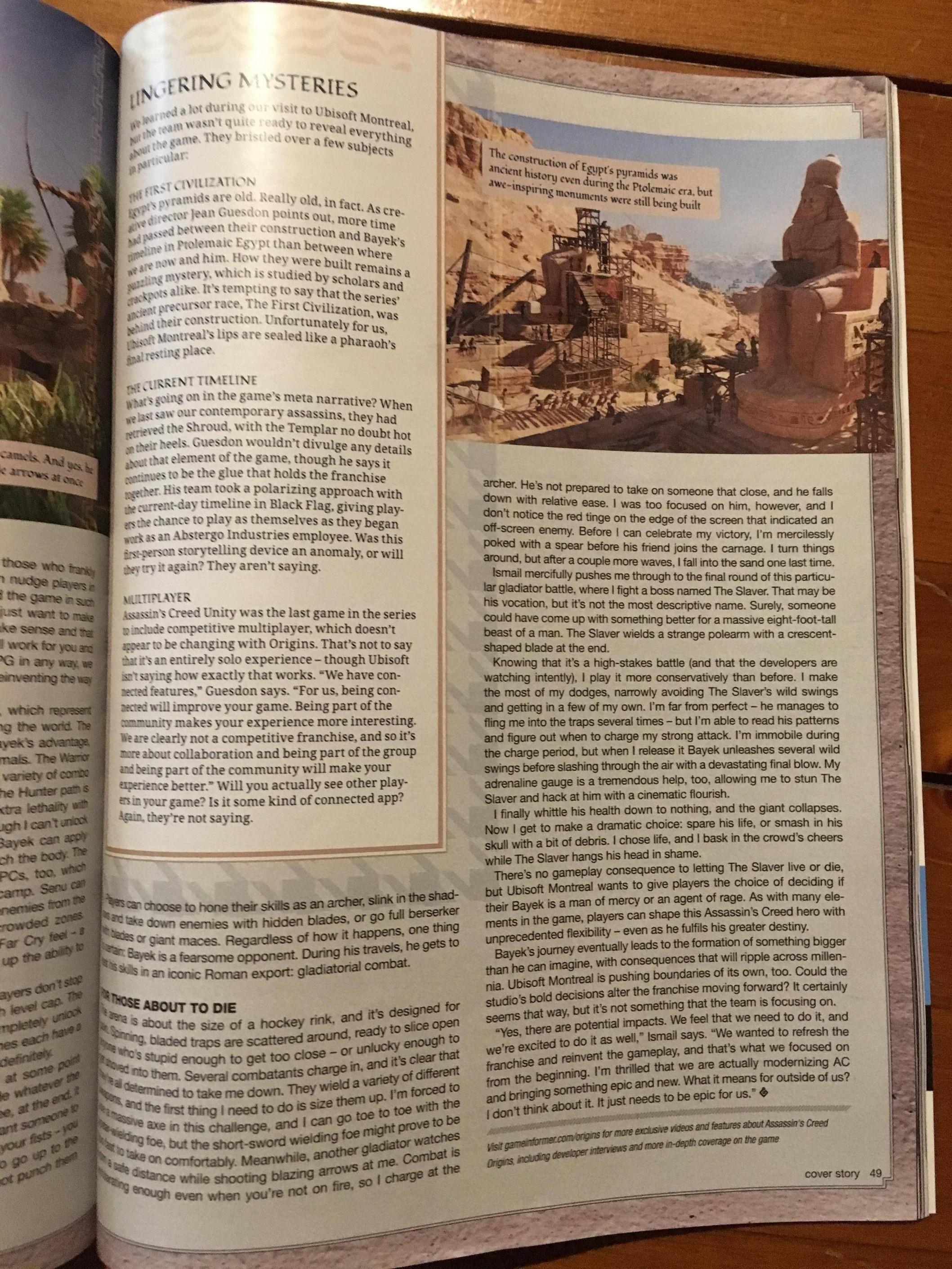 Tuna informací o Assassin's Creed: Origins z nového čísla Game Informeru 145589