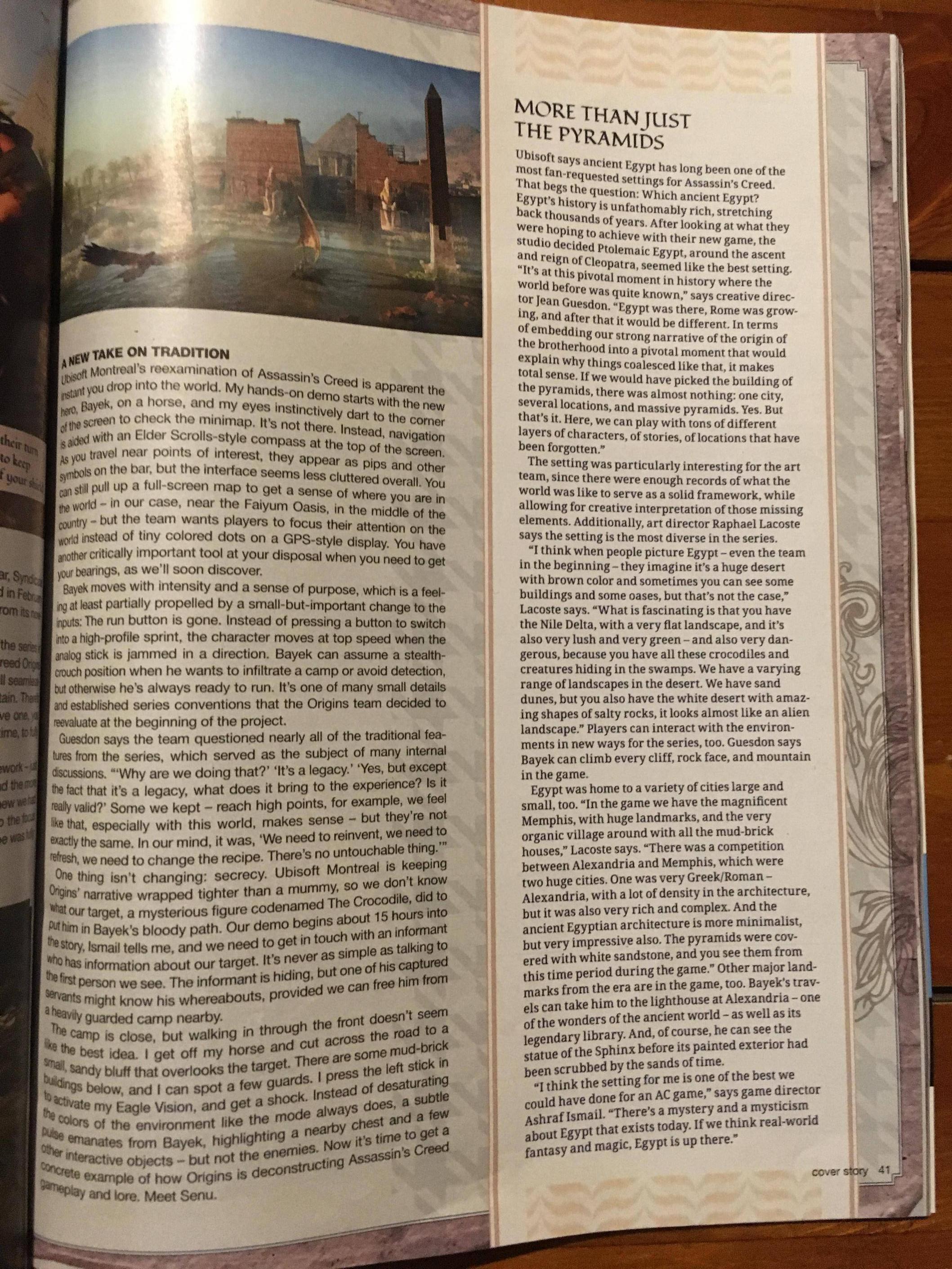 Tuna informací o Assassin's Creed: Origins z nového čísla Game Informeru 145592