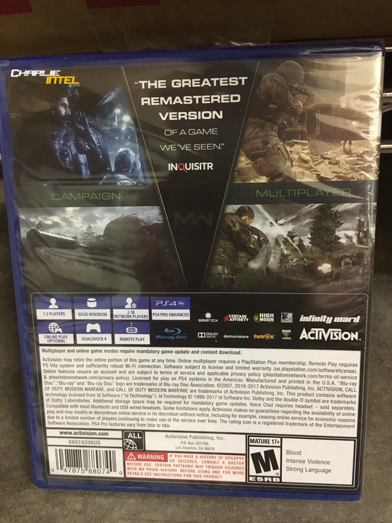 Call of Duty: Modern Warfare Remastered míří do obchodů 146204
