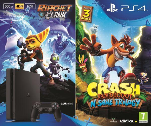 Limitovaná edice zlaté a stříbrné PlayStation 4, Crash či NHL 18 s dárkem 146613