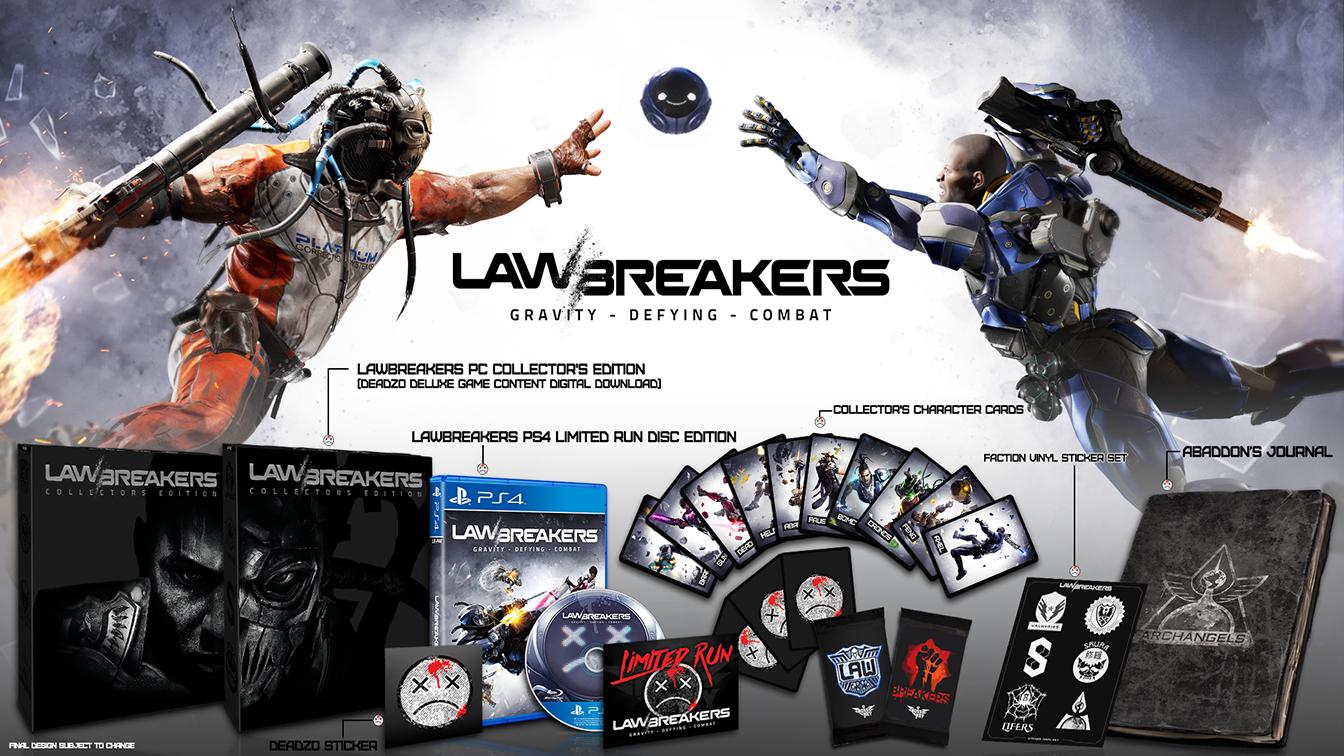Střílečka LawBreakers dostane limitovanou fyzickou kopii hry 146724