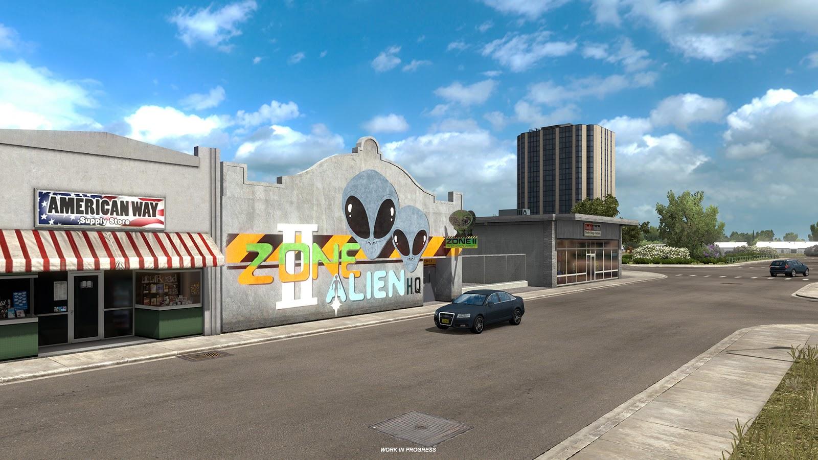 American Truck Simulator ukazuje město Roswell z Nového Mexika 146817