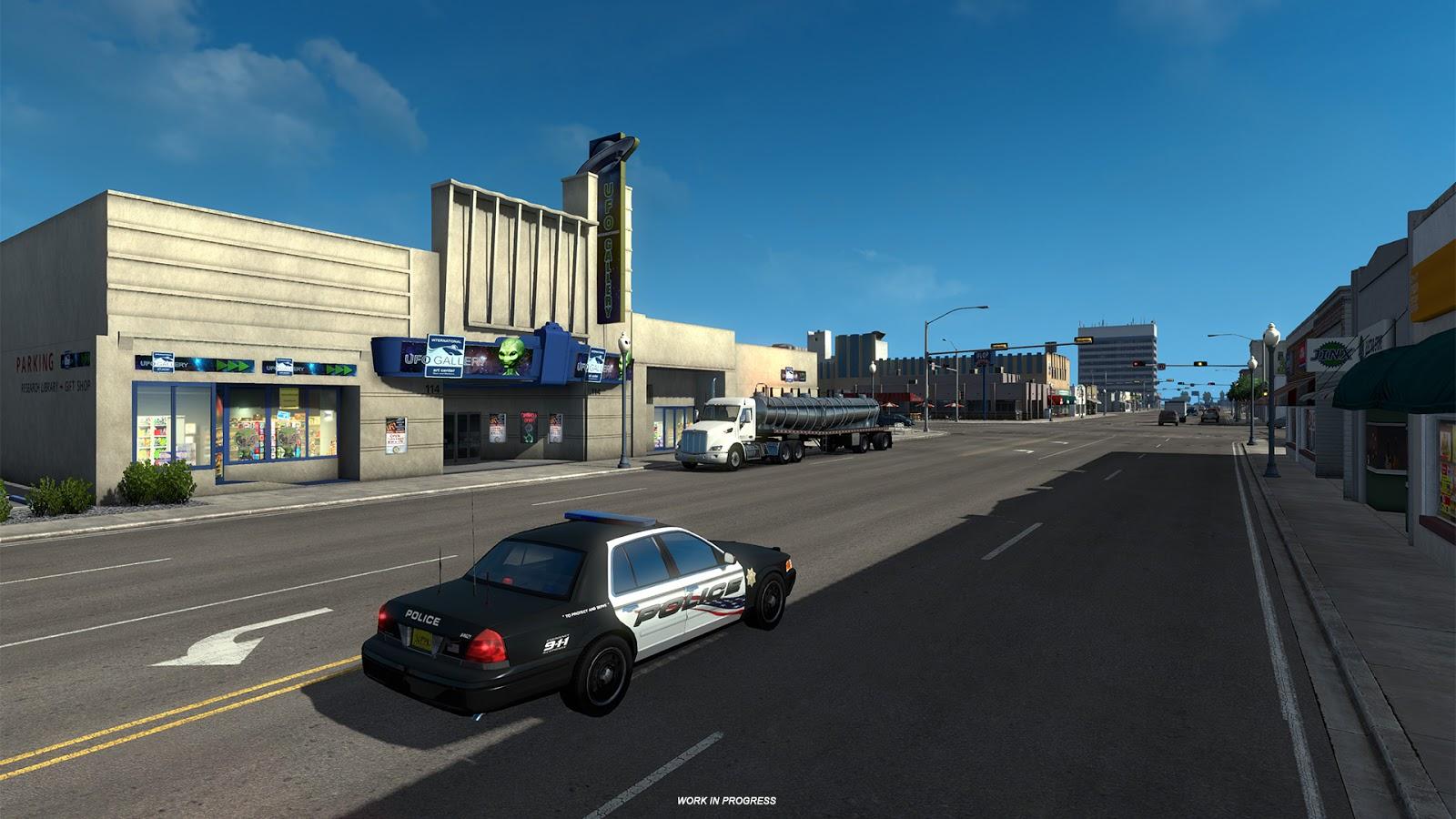 American Truck Simulator ukazuje město Roswell z Nového Mexika 146818