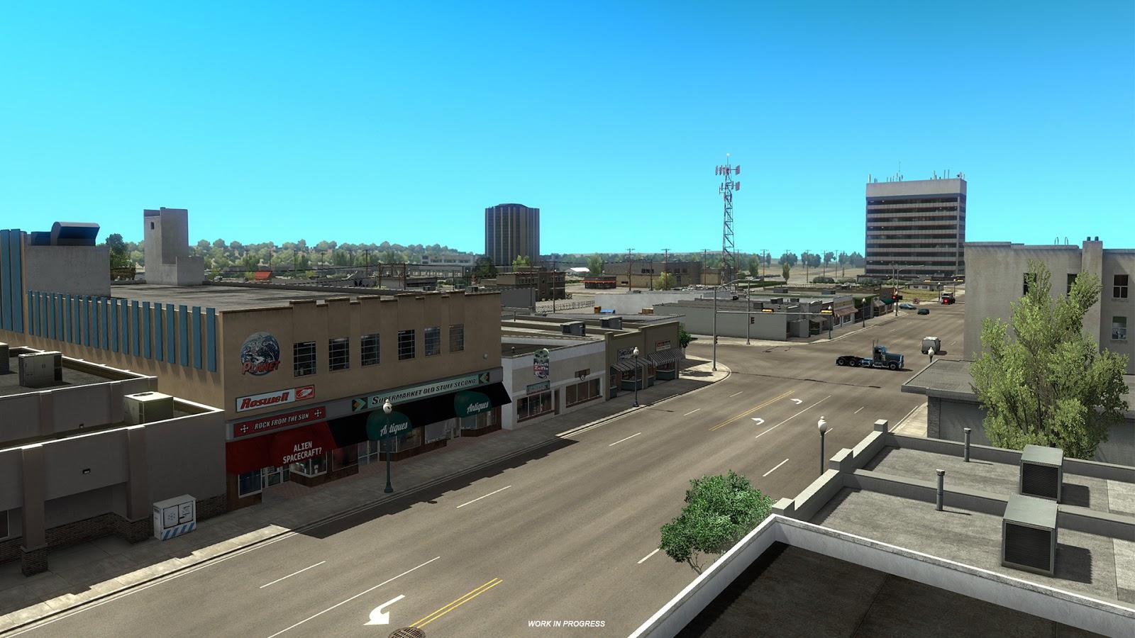 American Truck Simulator ukazuje město Roswell z Nového Mexika 146820