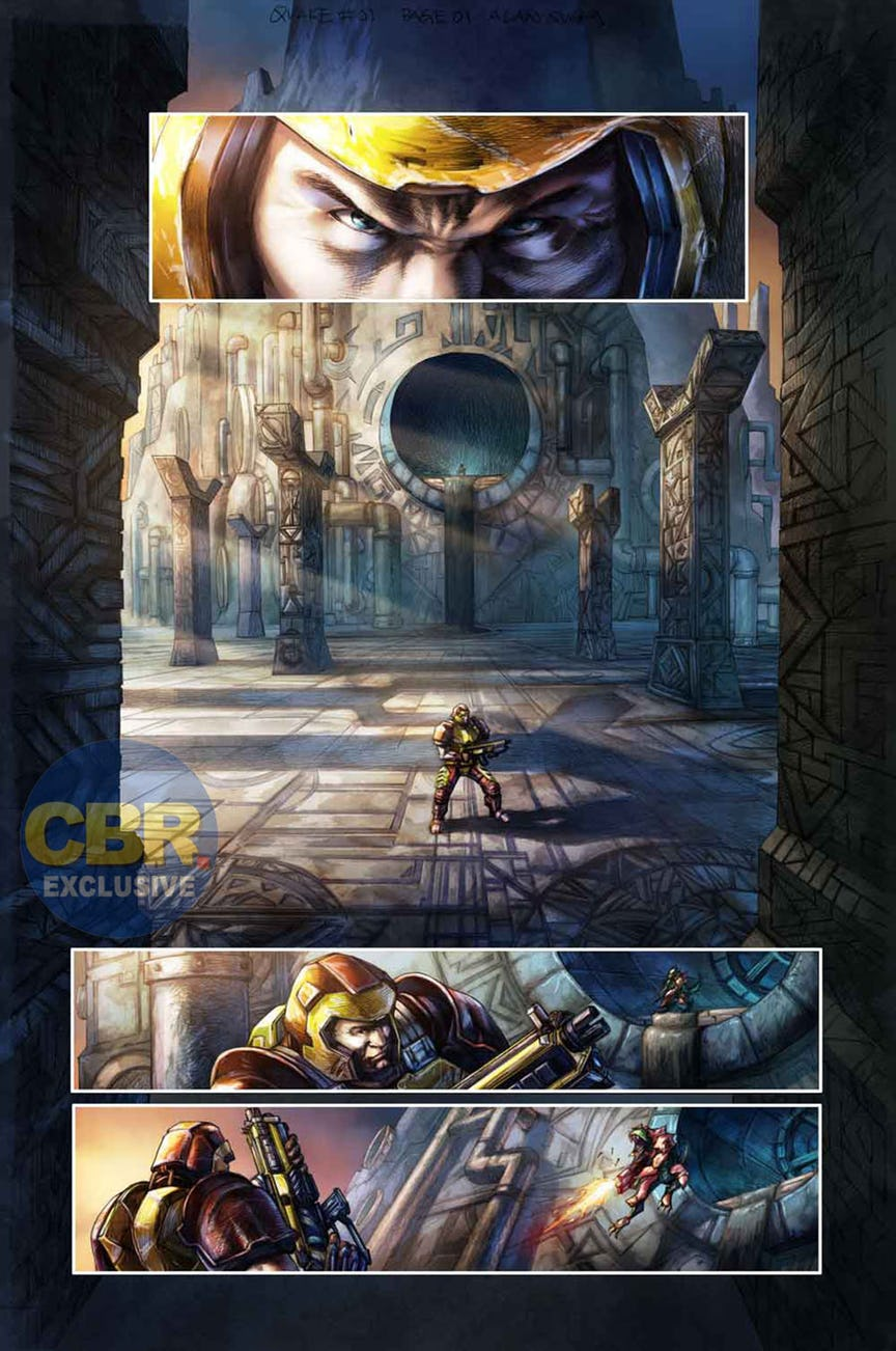 Quake Champions doplní série komiksů 147092