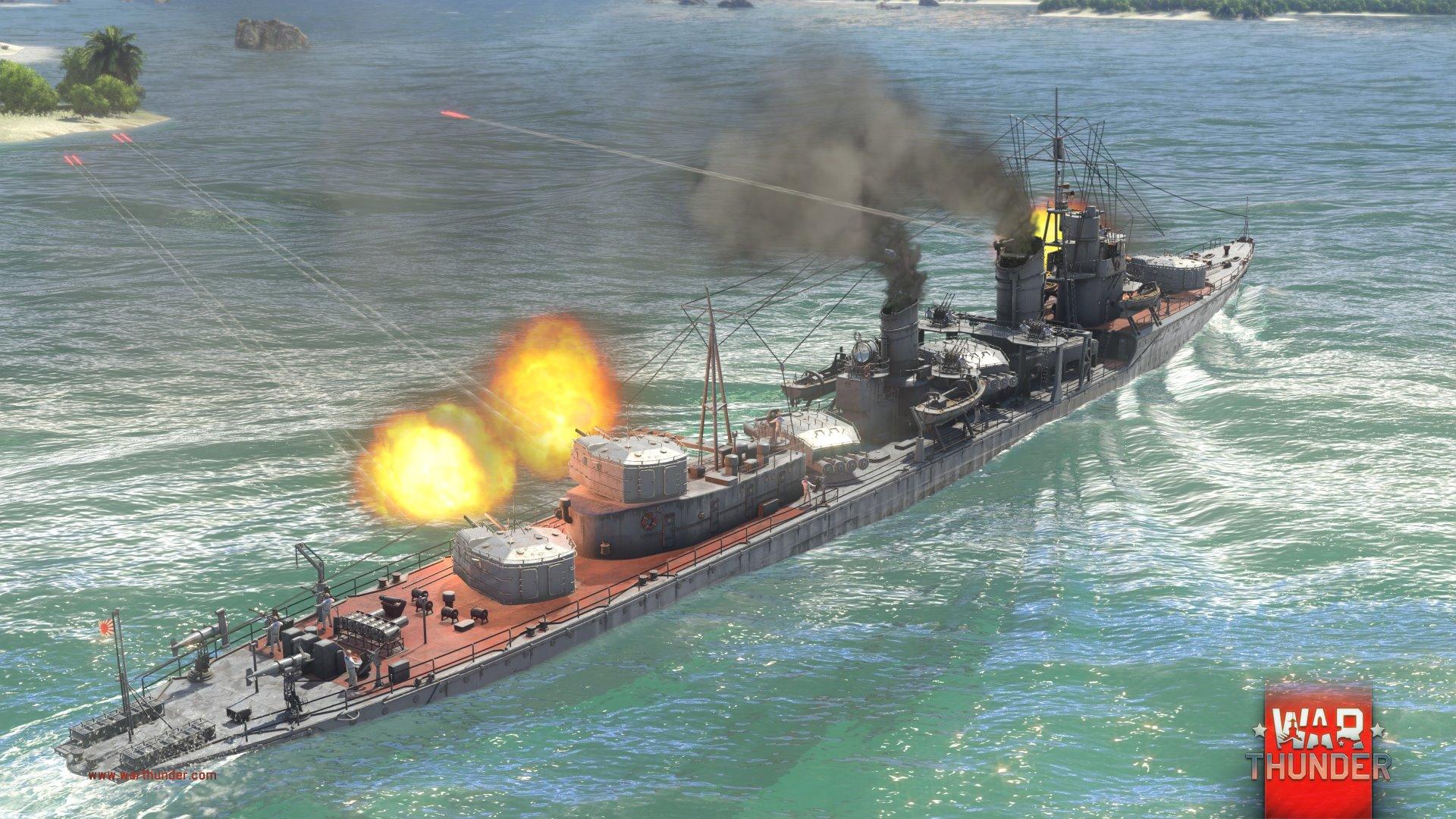 Každý z pěti národů má ve War Thunder vlastní torpédoborec 147721