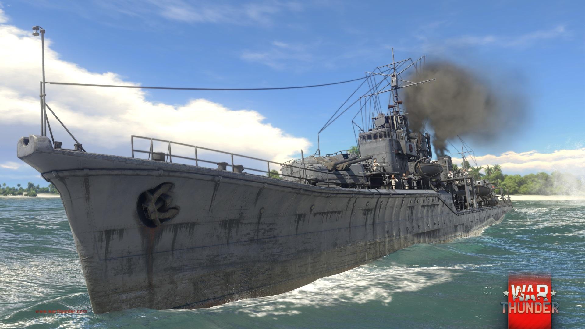Každý z pěti národů má ve War Thunder vlastní torpédoborec 147722