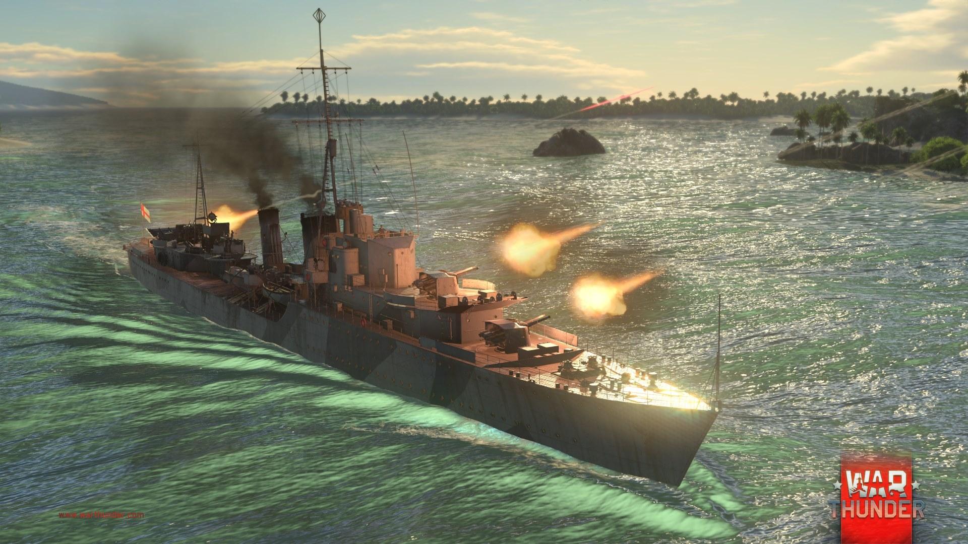Každý z pěti národů má ve War Thunder vlastní torpédoborec 147723