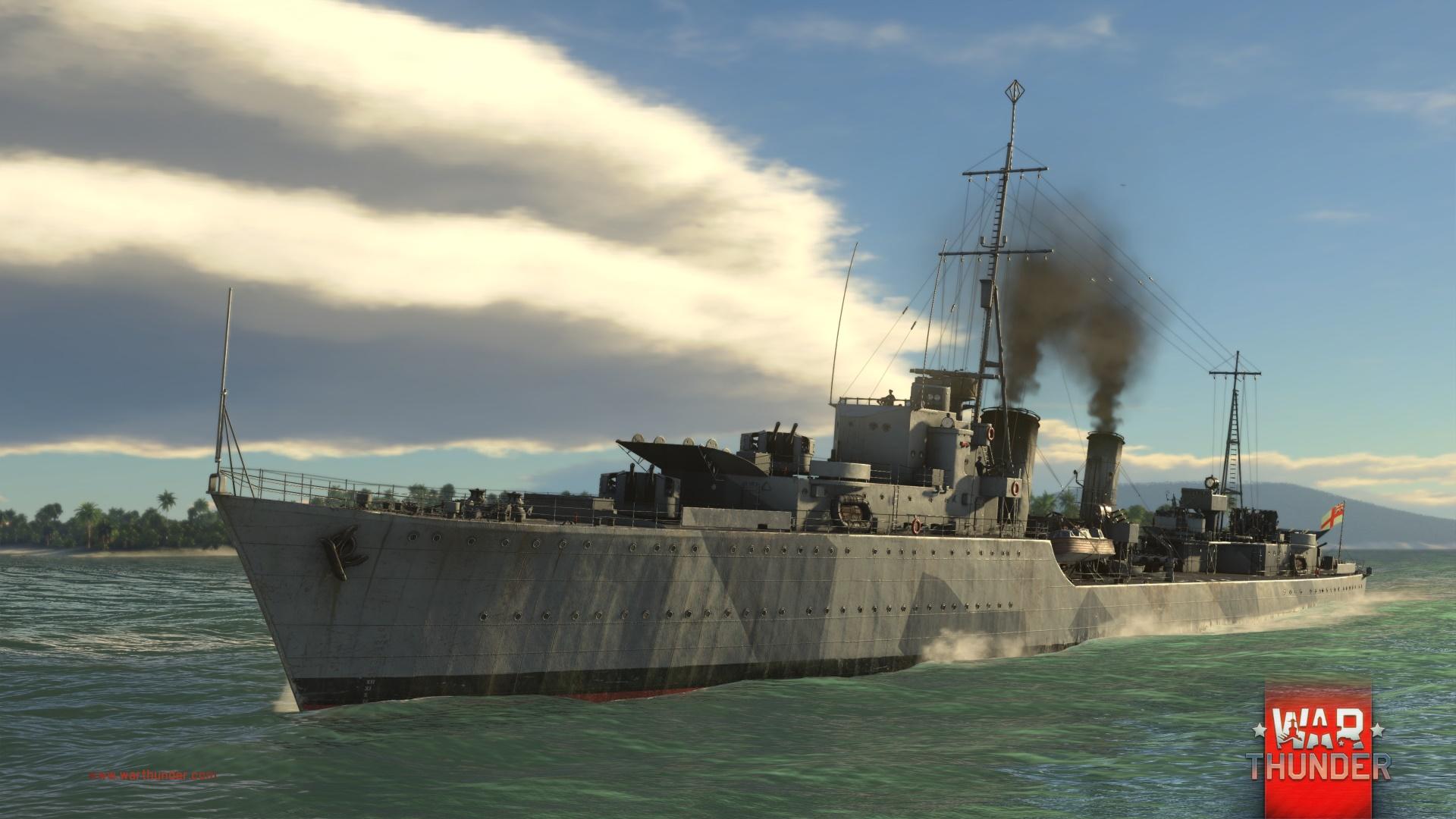 Každý z pěti národů má ve War Thunder vlastní torpédoborec 147724