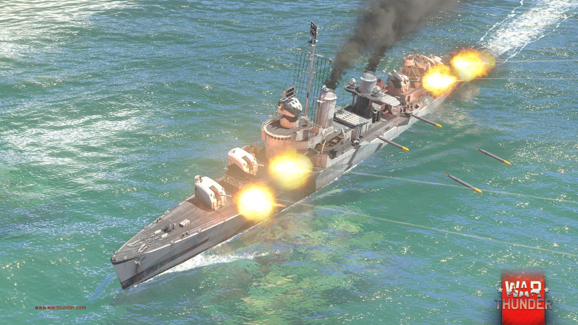 Každý z pěti národů má ve War Thunder vlastní torpédoborec 147725