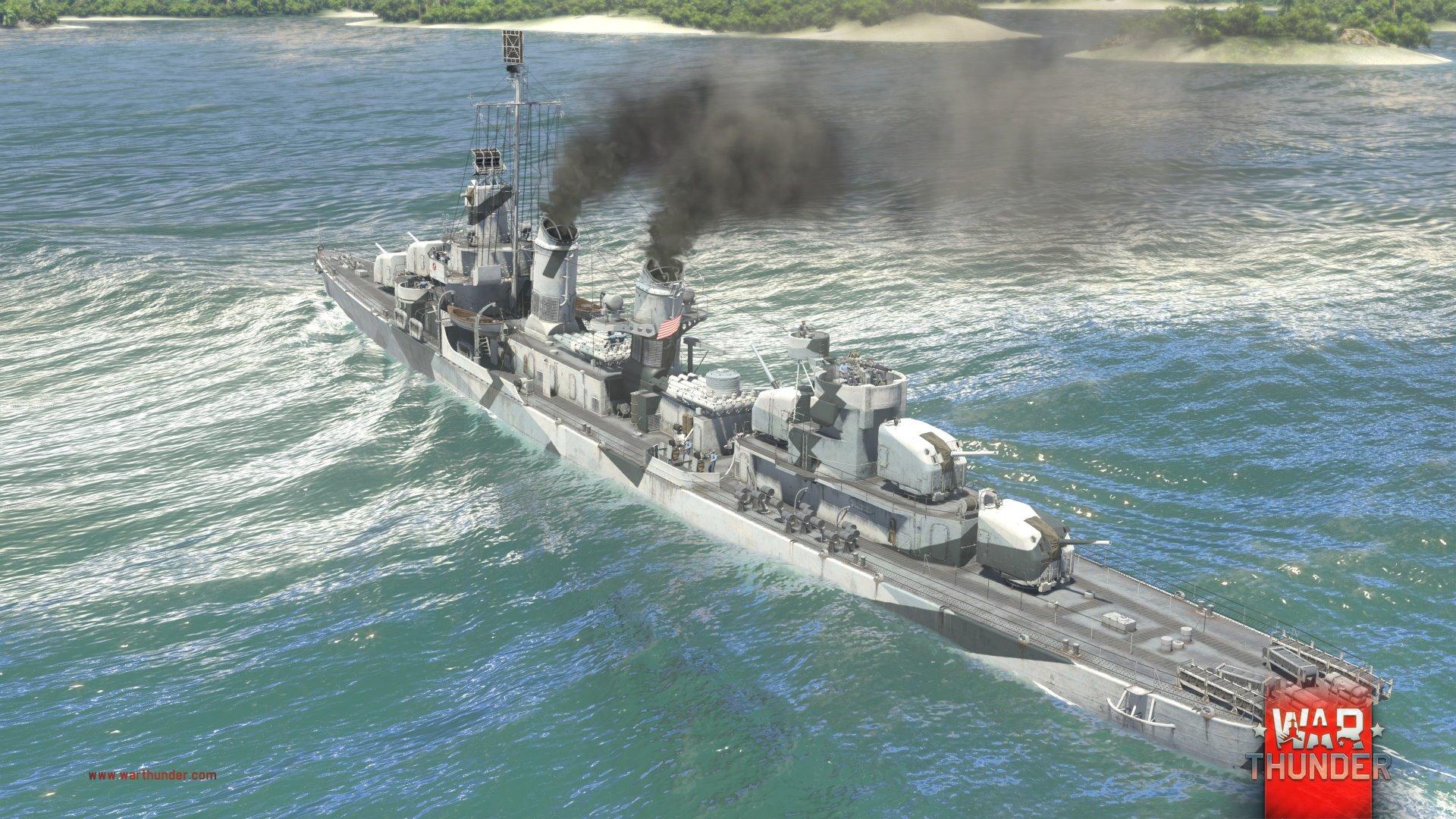 Každý z pěti národů má ve War Thunder vlastní torpédoborec 147726