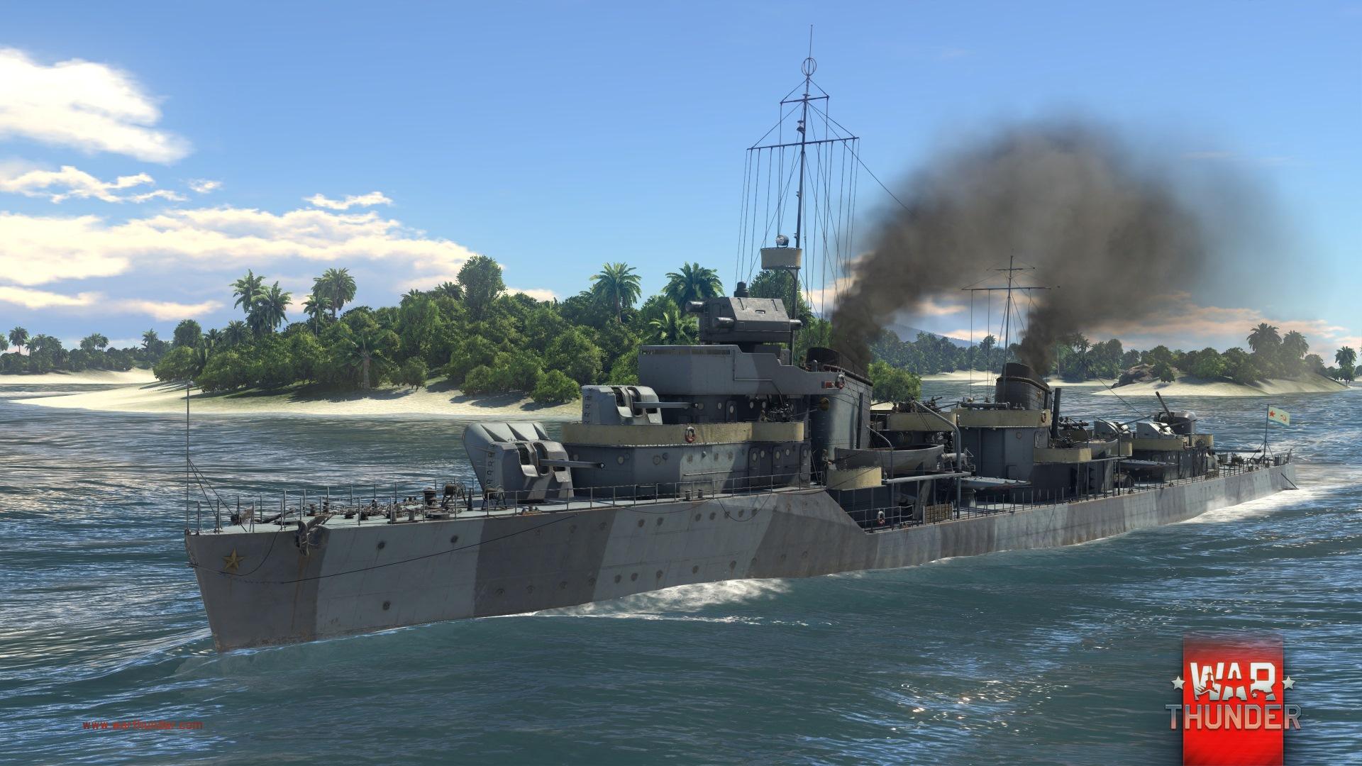 Každý z pěti národů má ve War Thunder vlastní torpédoborec 147727