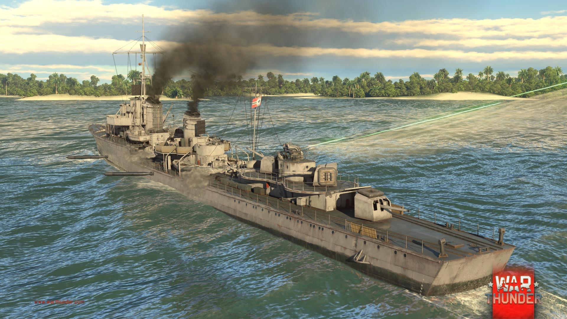 Každý z pěti národů má ve War Thunder vlastní torpédoborec 147728
