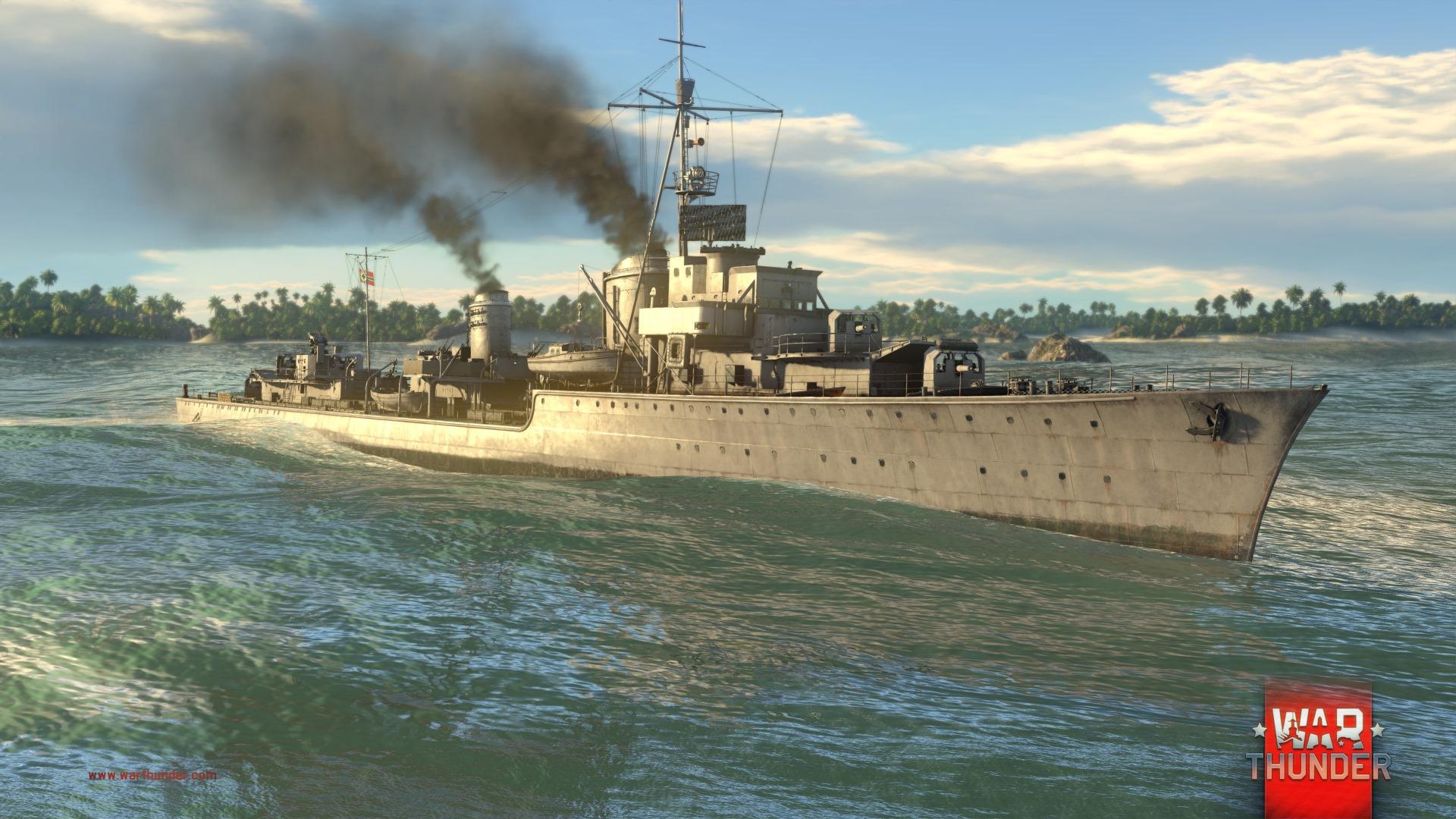 Každý z pěti národů má ve War Thunder vlastní torpédoborec 147729