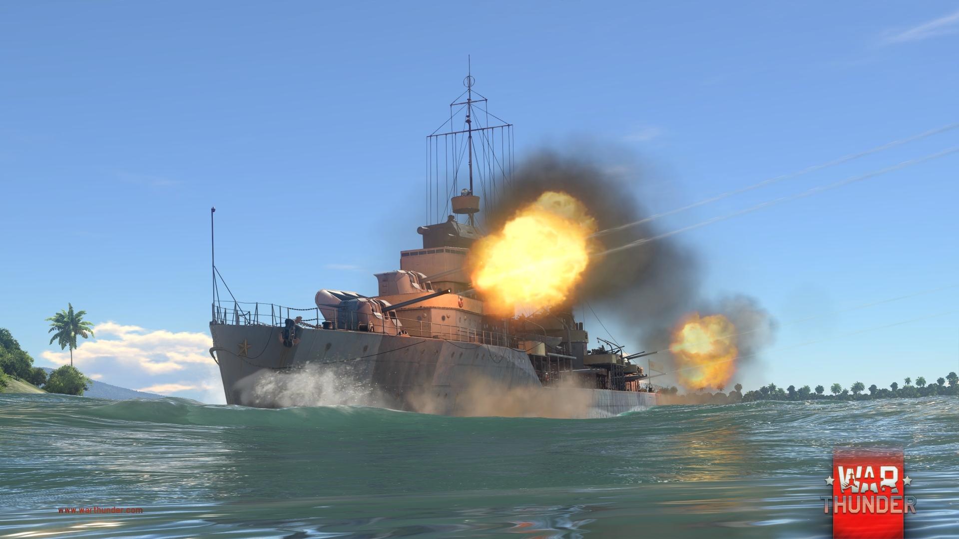Každý z pěti národů má ve War Thunder vlastní torpédoborec 147730