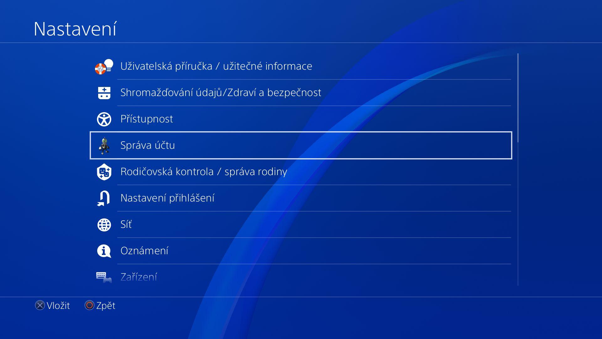 Obrazem: České menu PS4 148610