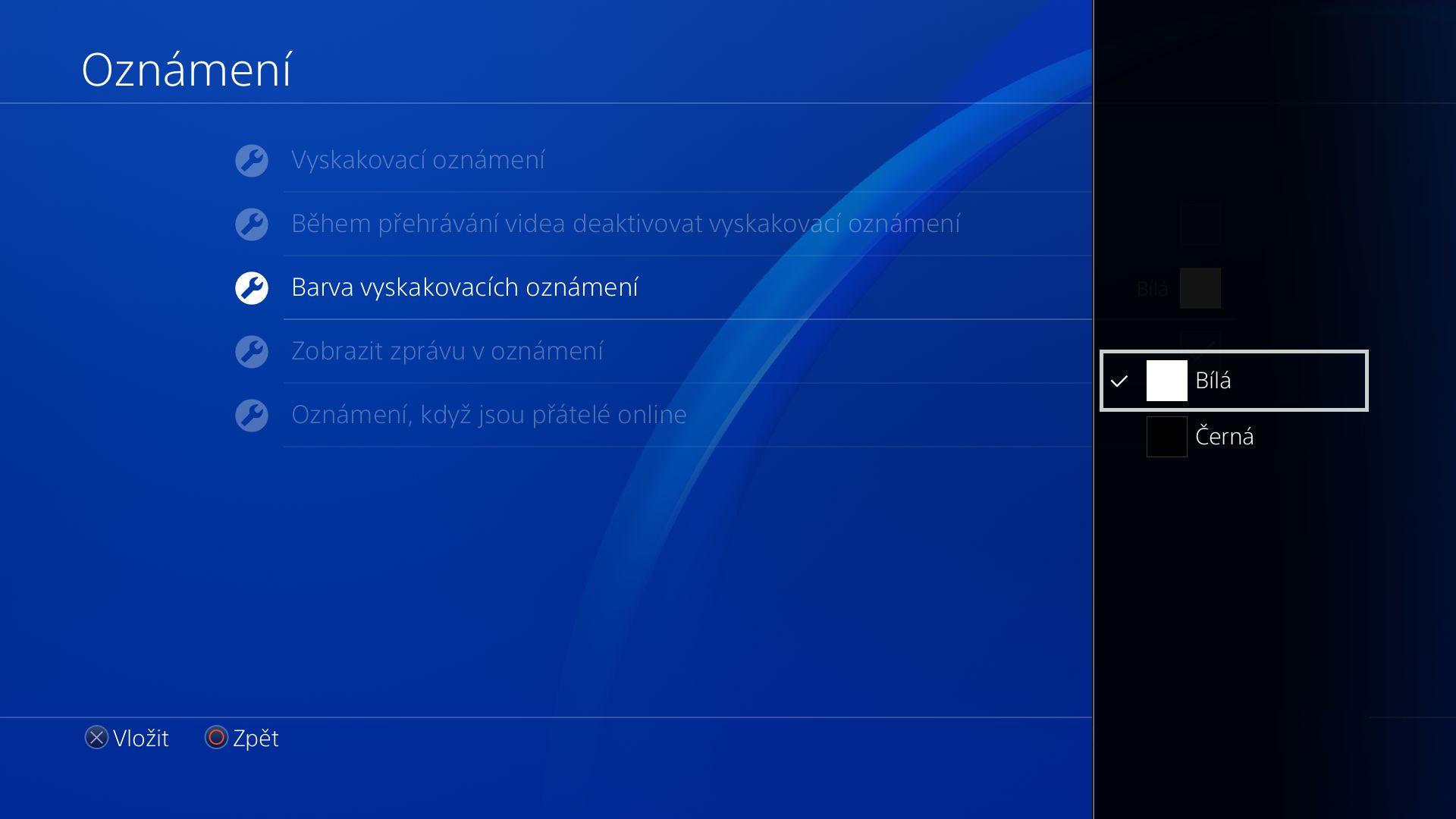 Obrazem: České menu PS4 148619