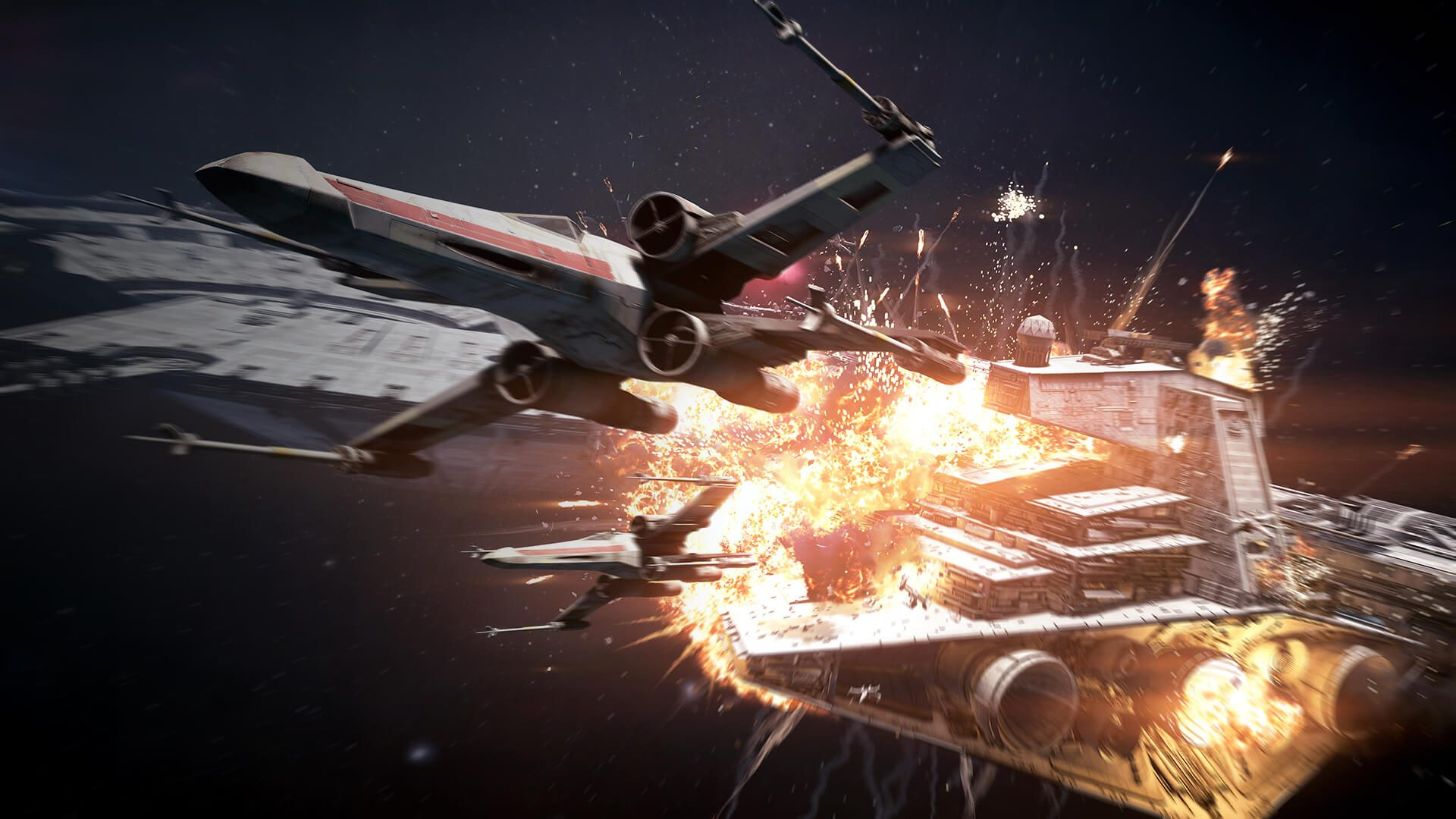 Gameplay záběry z vesmírné bitvy ve Star Wars: Battlefrontu 2 148757