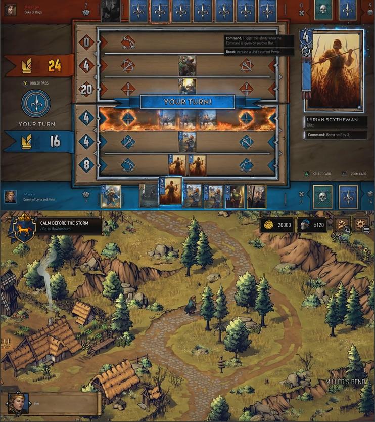 Singleplayerová kampaň Gwent: The Witcher Card Game se zaměří na královnu Meve 148799