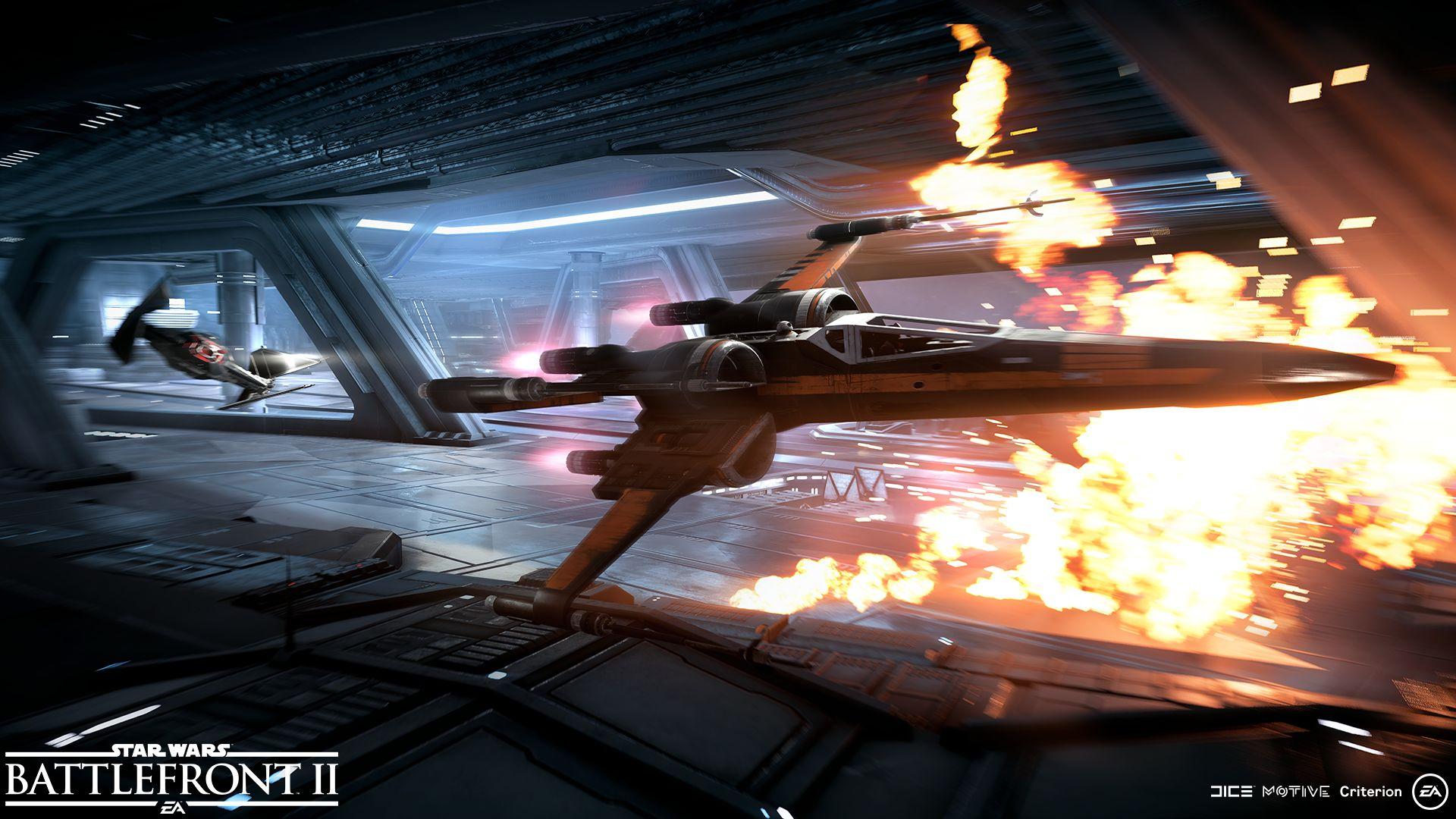 Vesmírné bitvy ve Star Wars: Battlefrontu 2 na nových screenshotech 148813