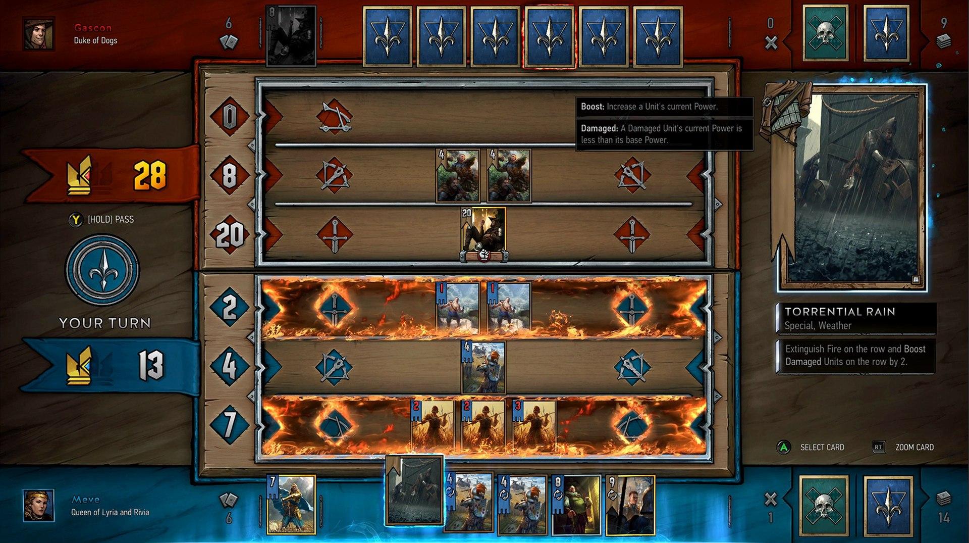Singleplayerová kampaň Gwent: The Witcher Card Game se zaměří na královnu Meve 148839