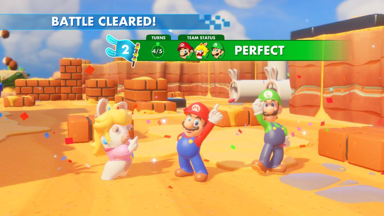 Mario + Rabbids Kingdom Battle - pěkně vykutálený, ušatý instalatér 149261