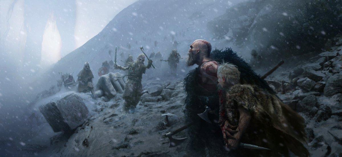 Mrazivé prostředí a nepřátelé z God of War 149294