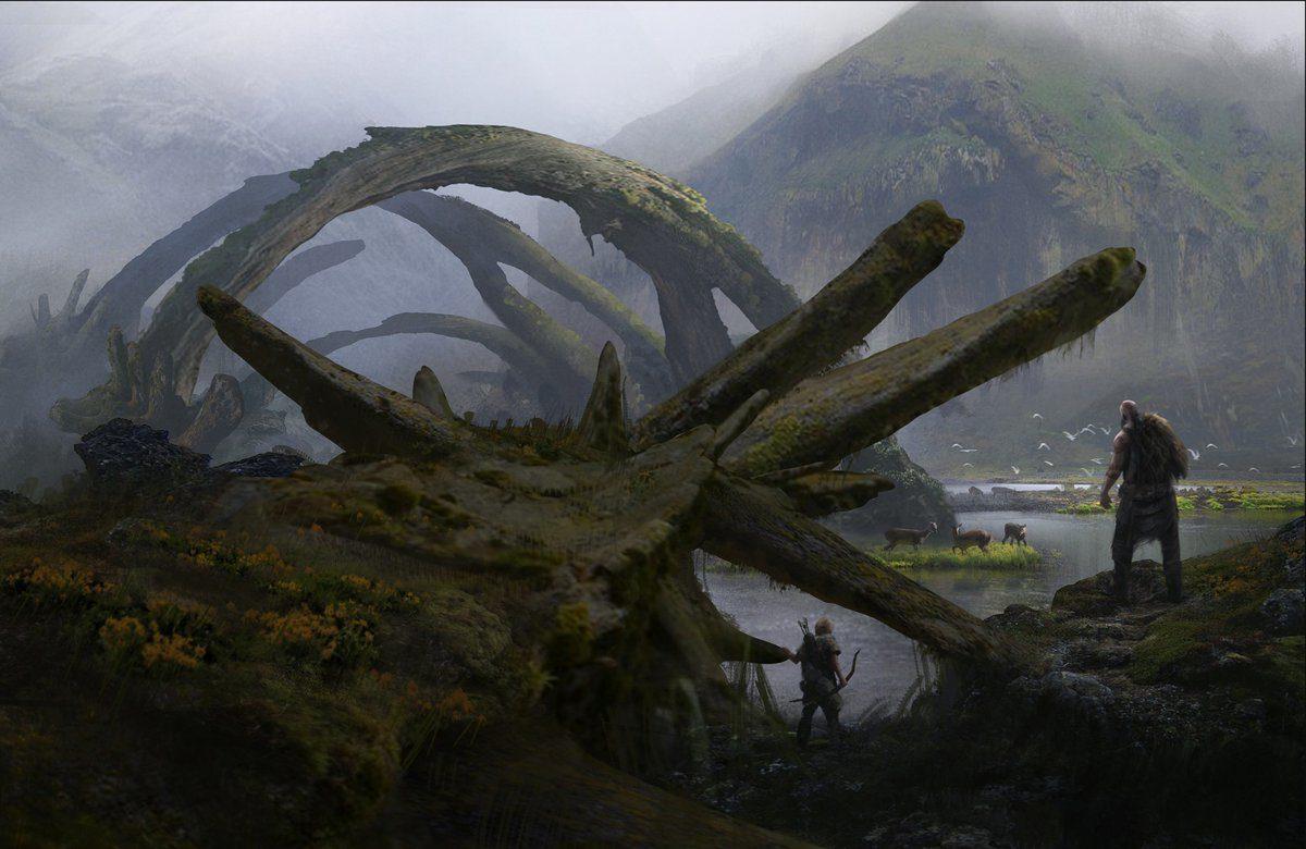 Mrazivé prostředí a nepřátelé z God of War 149301