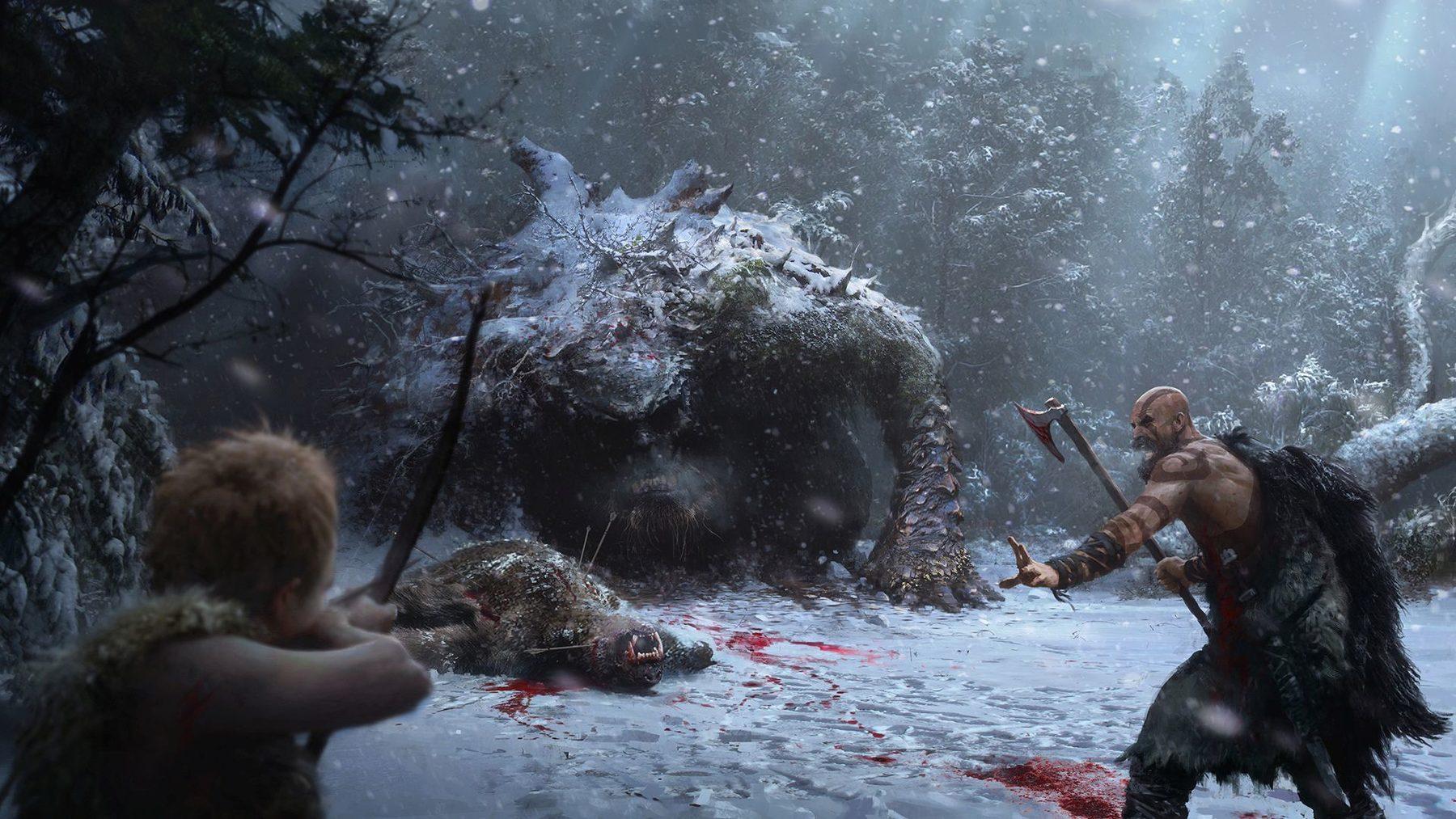 Mrazivé prostředí a nepřátelé z God of War 149304