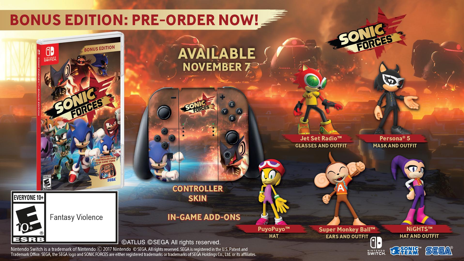 Sonic Forces můžete koupit v bonusové fyzické edici 149348