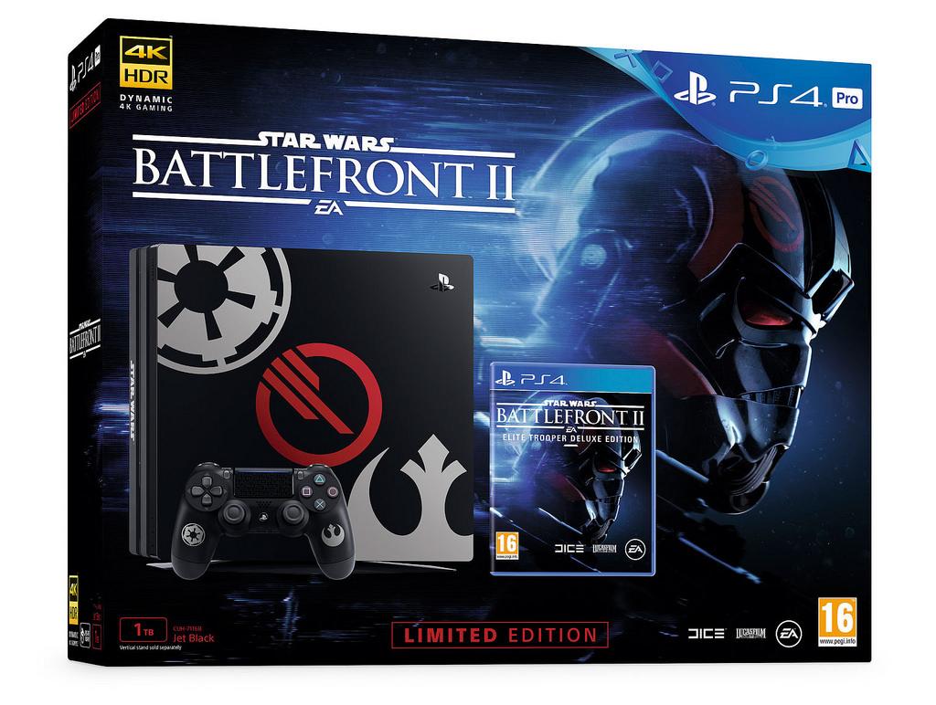 PS4 a PS4 Pro v barvách Star Wars: Battlefront 2 151412
