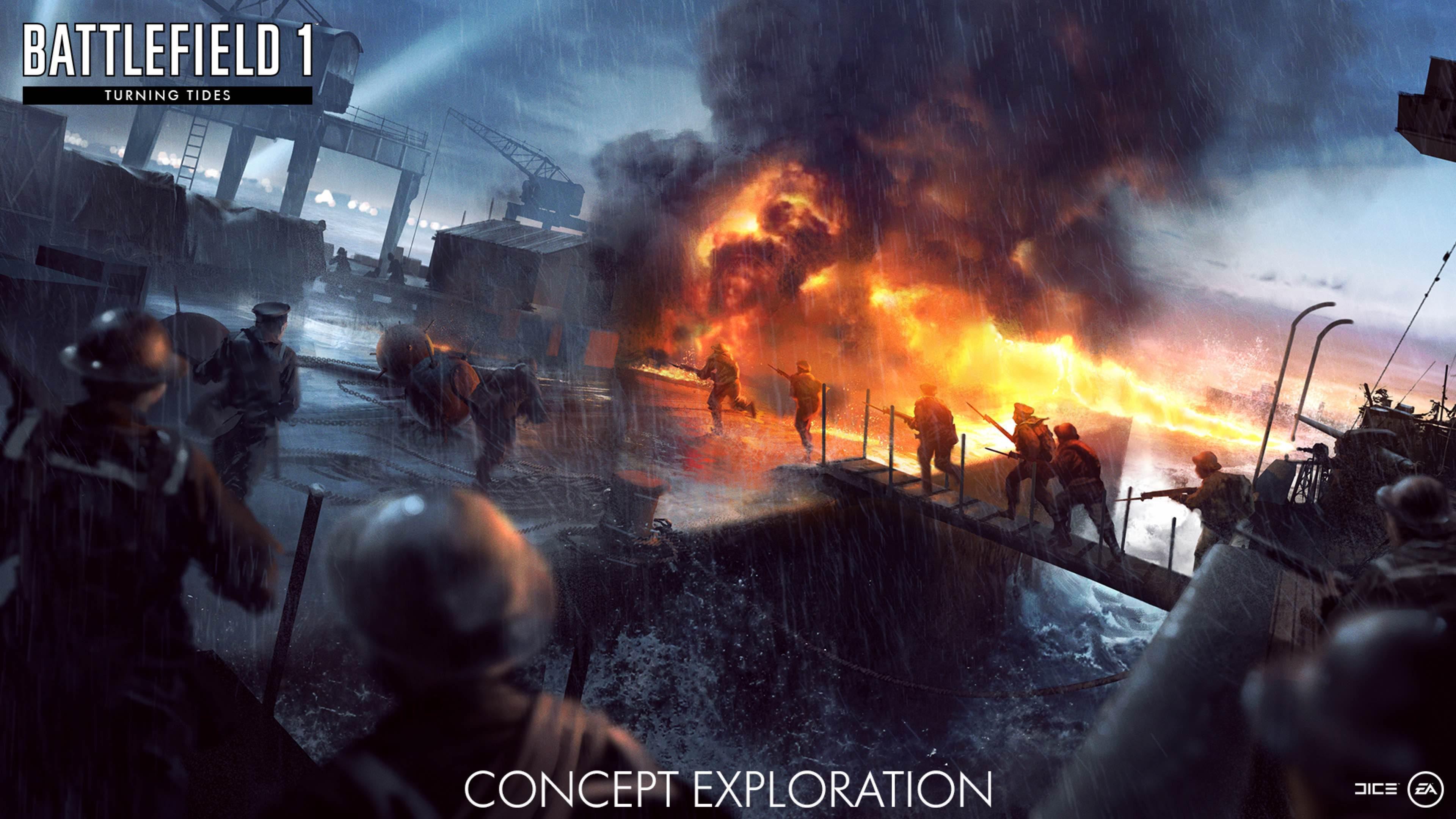 Nové koncepty přibližují první světovou válku v podání expanze Battlefield 1: Turning Tides 151677