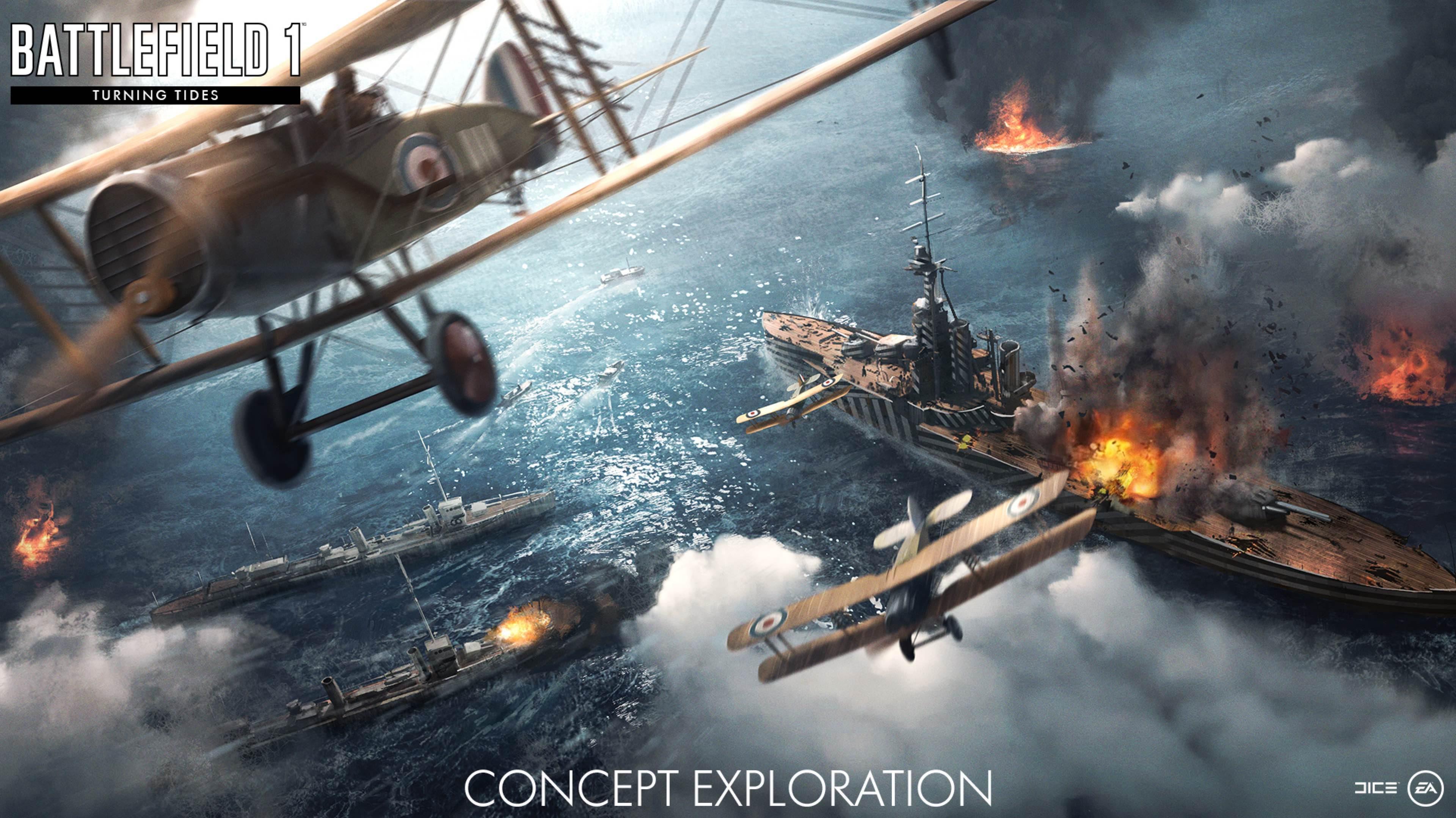 Nové koncepty přibližují první světovou válku v podání expanze Battlefield 1: Turning Tides 151678