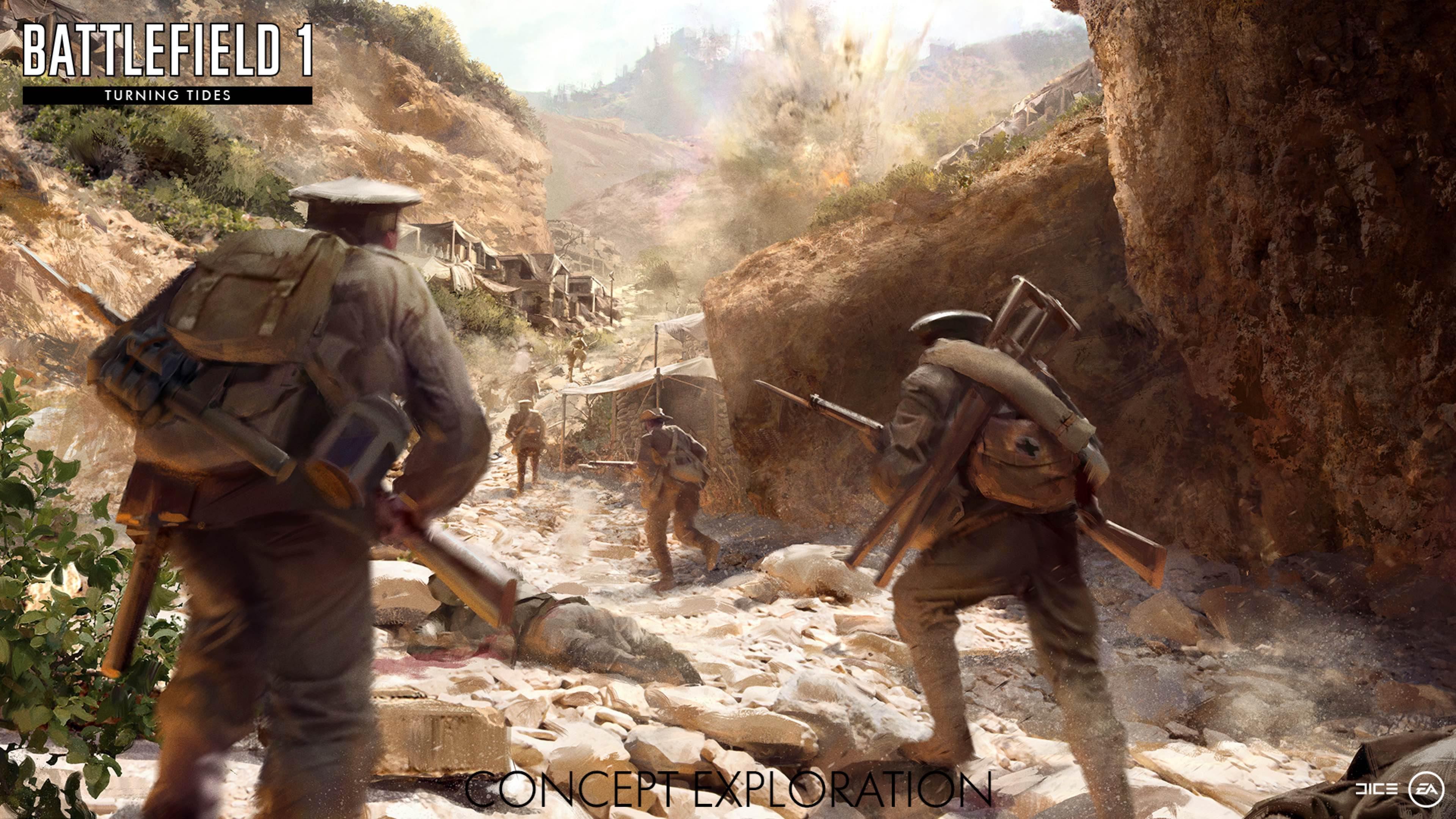 Nové koncepty přibližují první světovou válku v podání expanze Battlefield 1: Turning Tides 151679