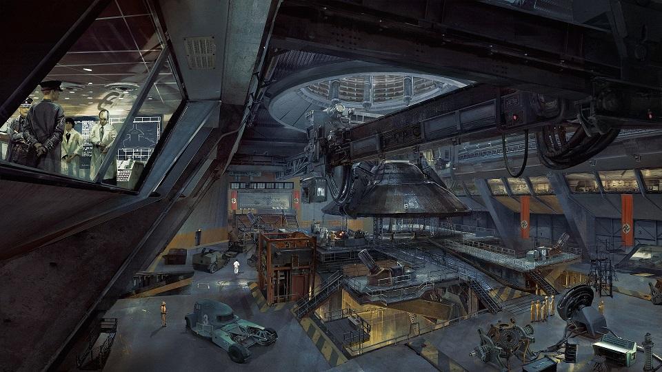 Nálož konceptů ukazuje prostředí Wolfenstein 2: The New Colossus 151707
