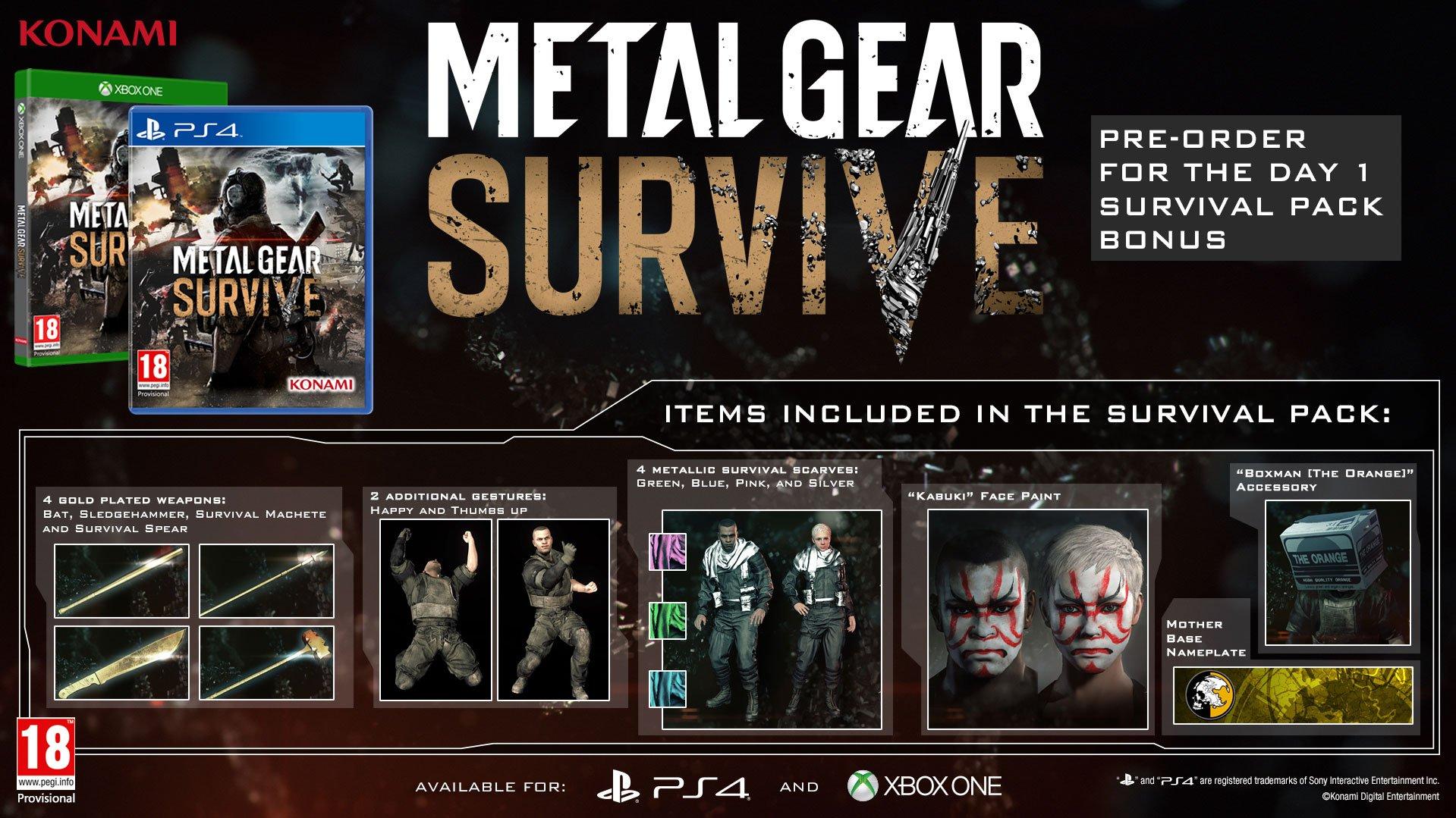 Kooperativní Metal Gear Survive vyjde v únoru 151790