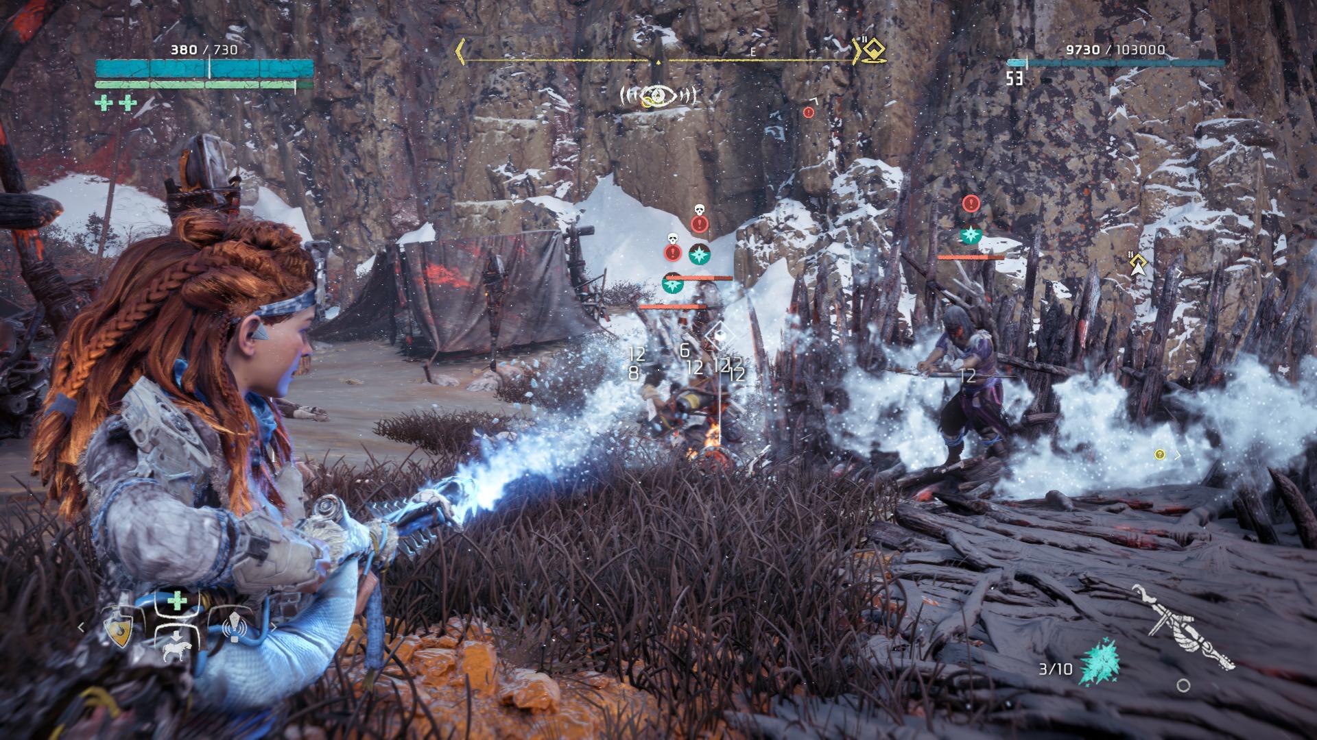 Horizon Zero Dawn: The Frozen Wilds - zima klepe na stroje 152293
