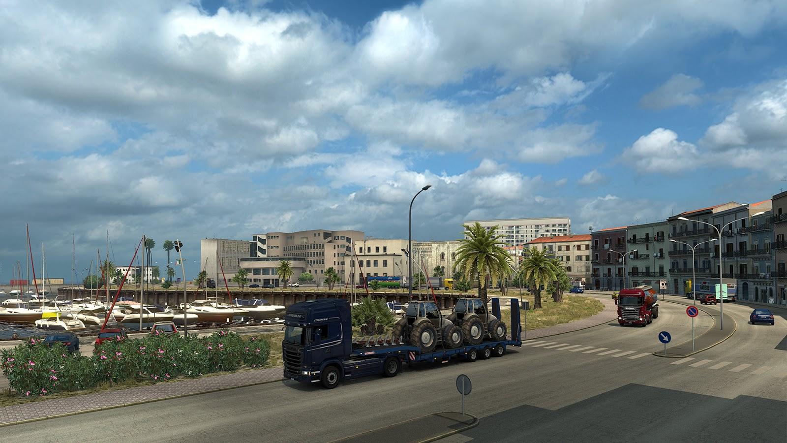 Sicílie na obrázcích z Euro Truck Simulatoru 2 152942