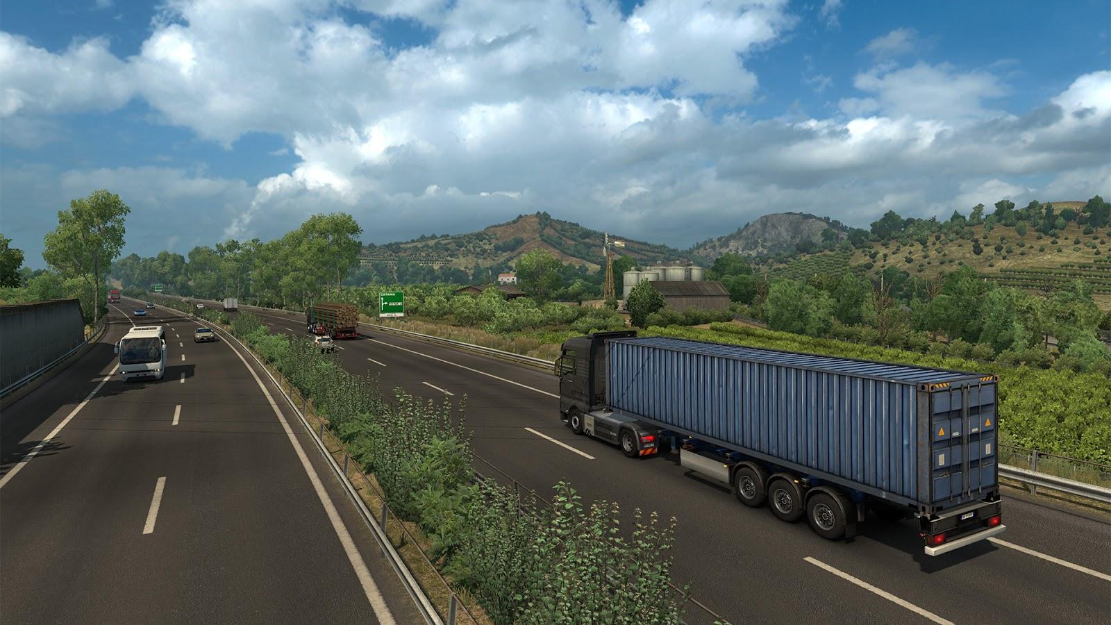 Sicílie na obrázcích z Euro Truck Simulatoru 2 152943