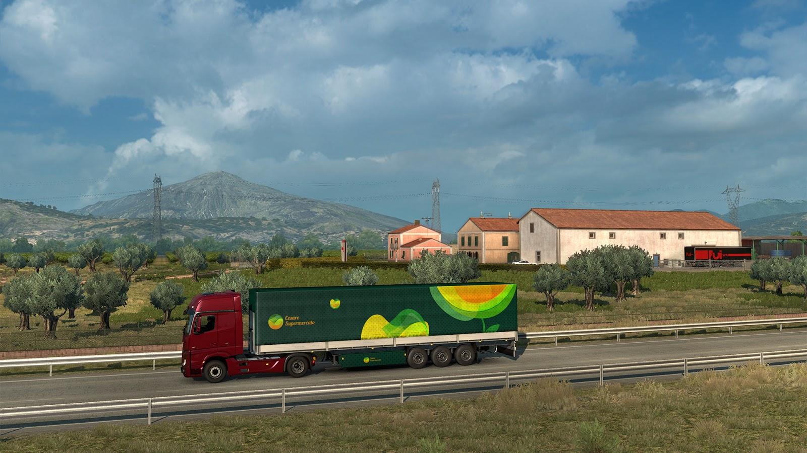 Sicílie na obrázcích z Euro Truck Simulatoru 2 152945