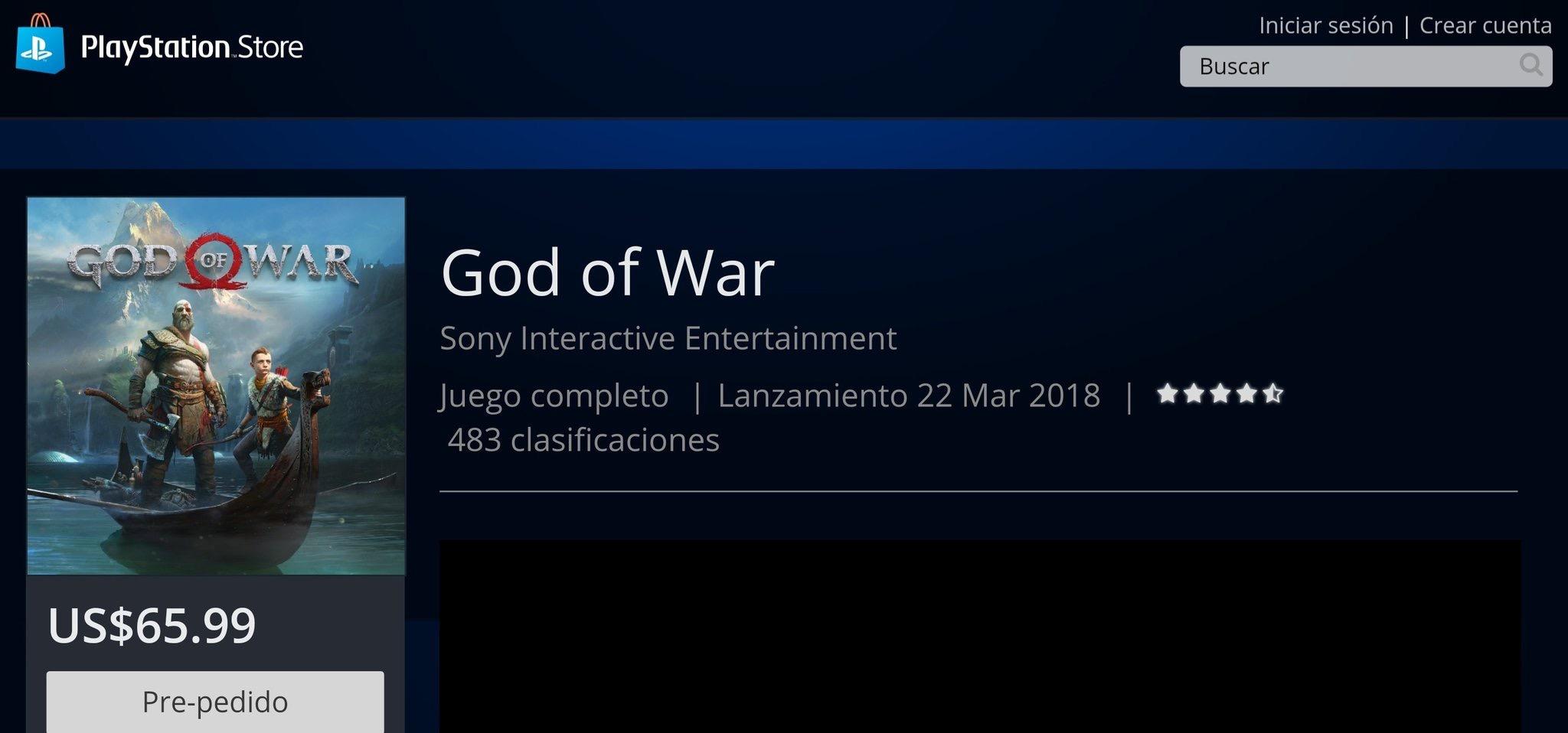 Z PS Store uniklo datum vydání God of War 153495
