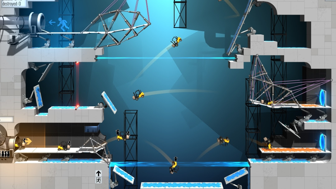 Nový přírůstek do série Bridge Constructor využívá motivy Portalu 153624