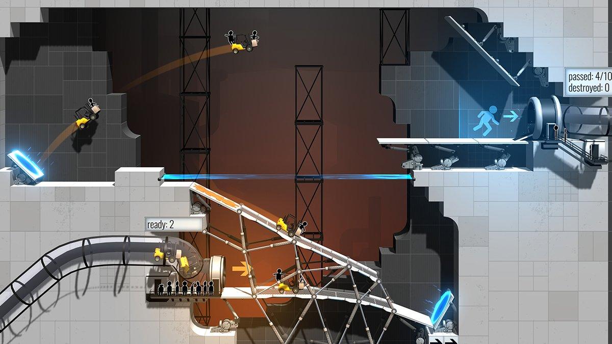 Nový přírůstek do série Bridge Constructor využívá motivy Portalu 153633