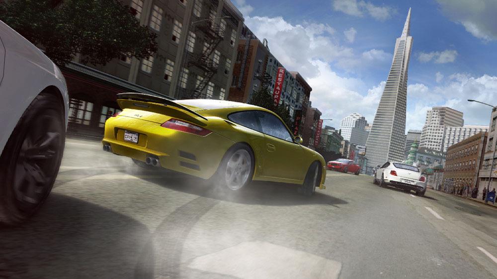 Žluté Porsche v závodech Driver: San Francisco 15420