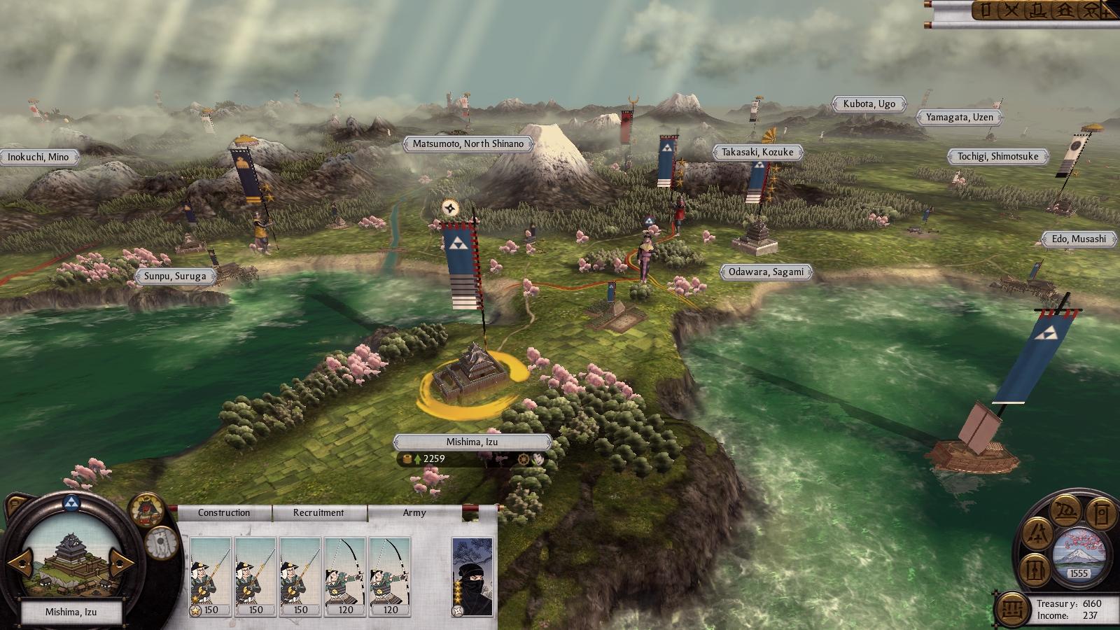 Shogun 2: Total War: nová galerie i s mapou z kampaně 15948